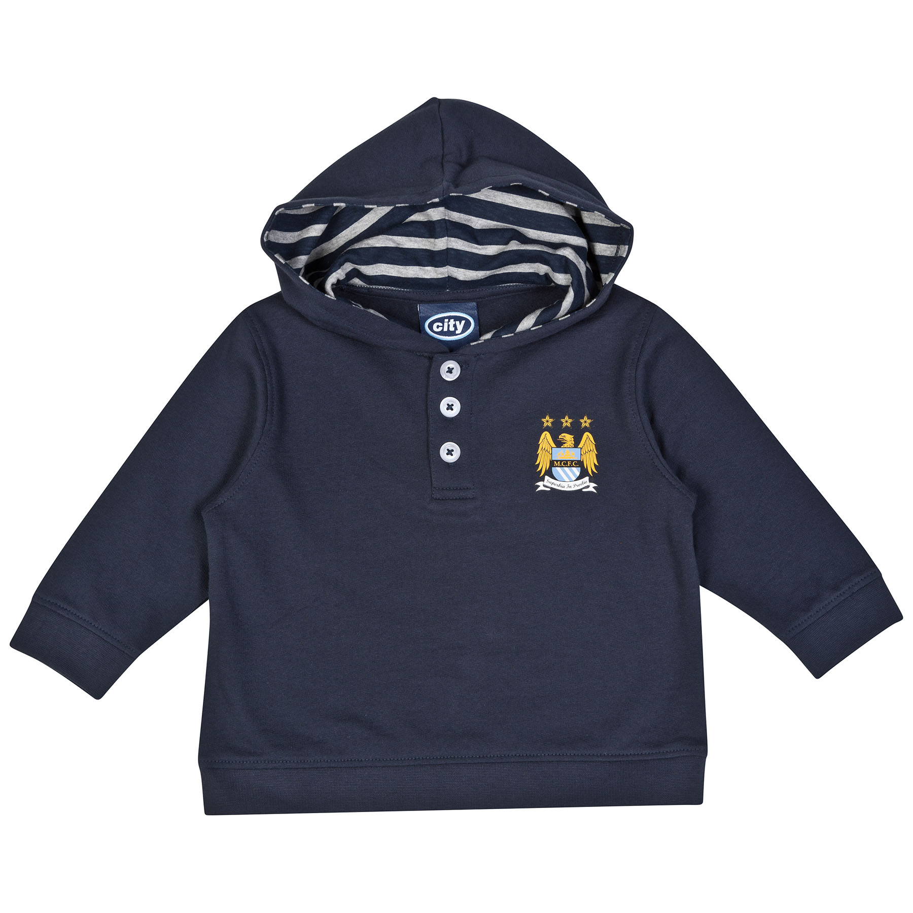Manchester City Harvey Hoodie-Baby Navy