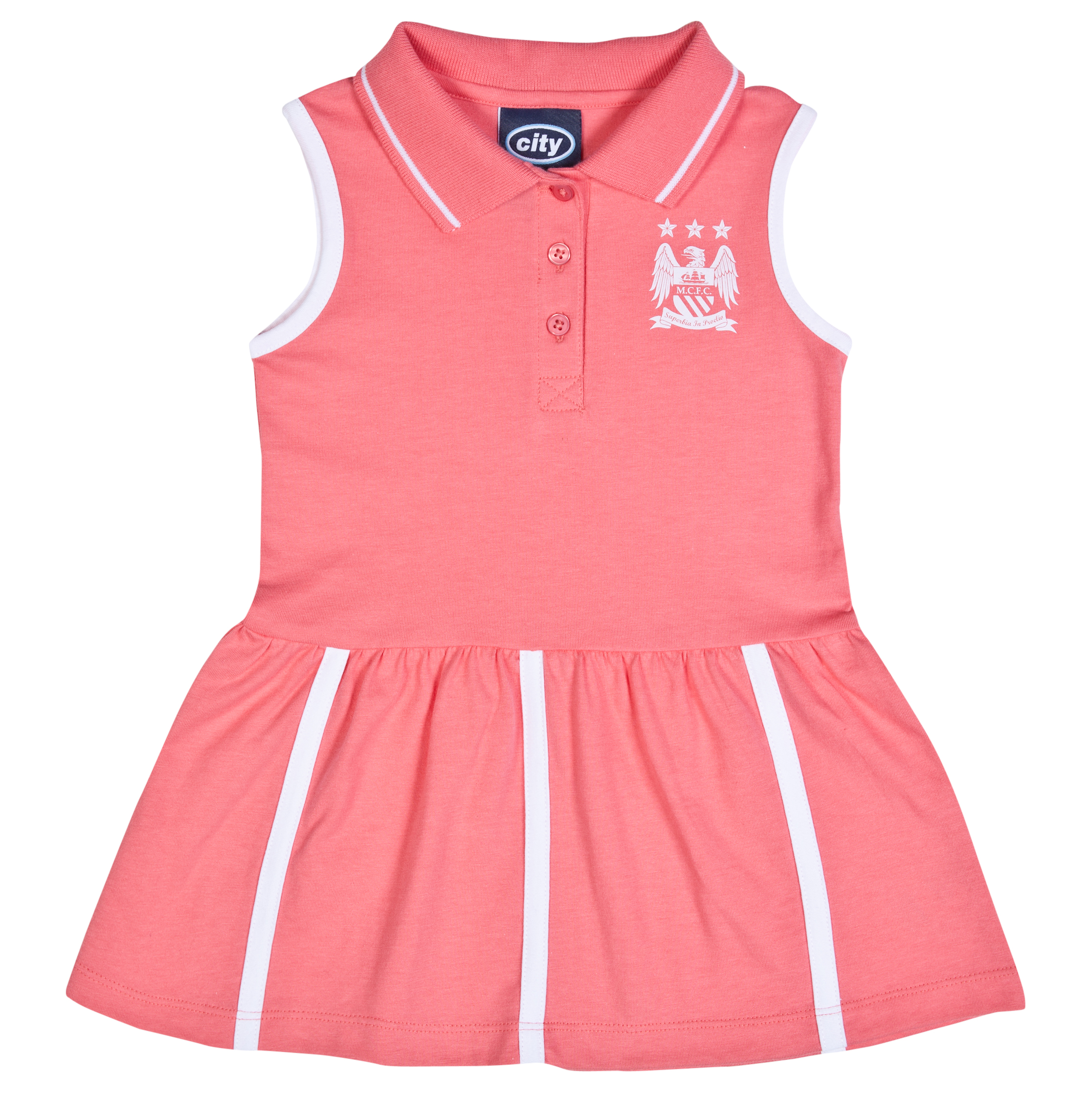 Manchester City Tilly Tennis Dress-Baby Pink