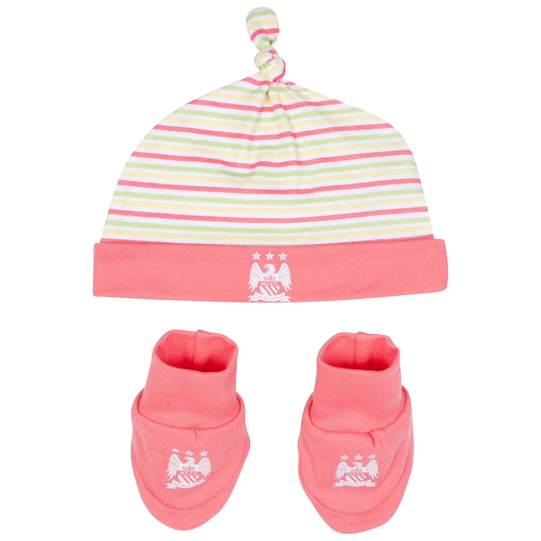 Manchester City Header Hat and Bootie-Baby Pink