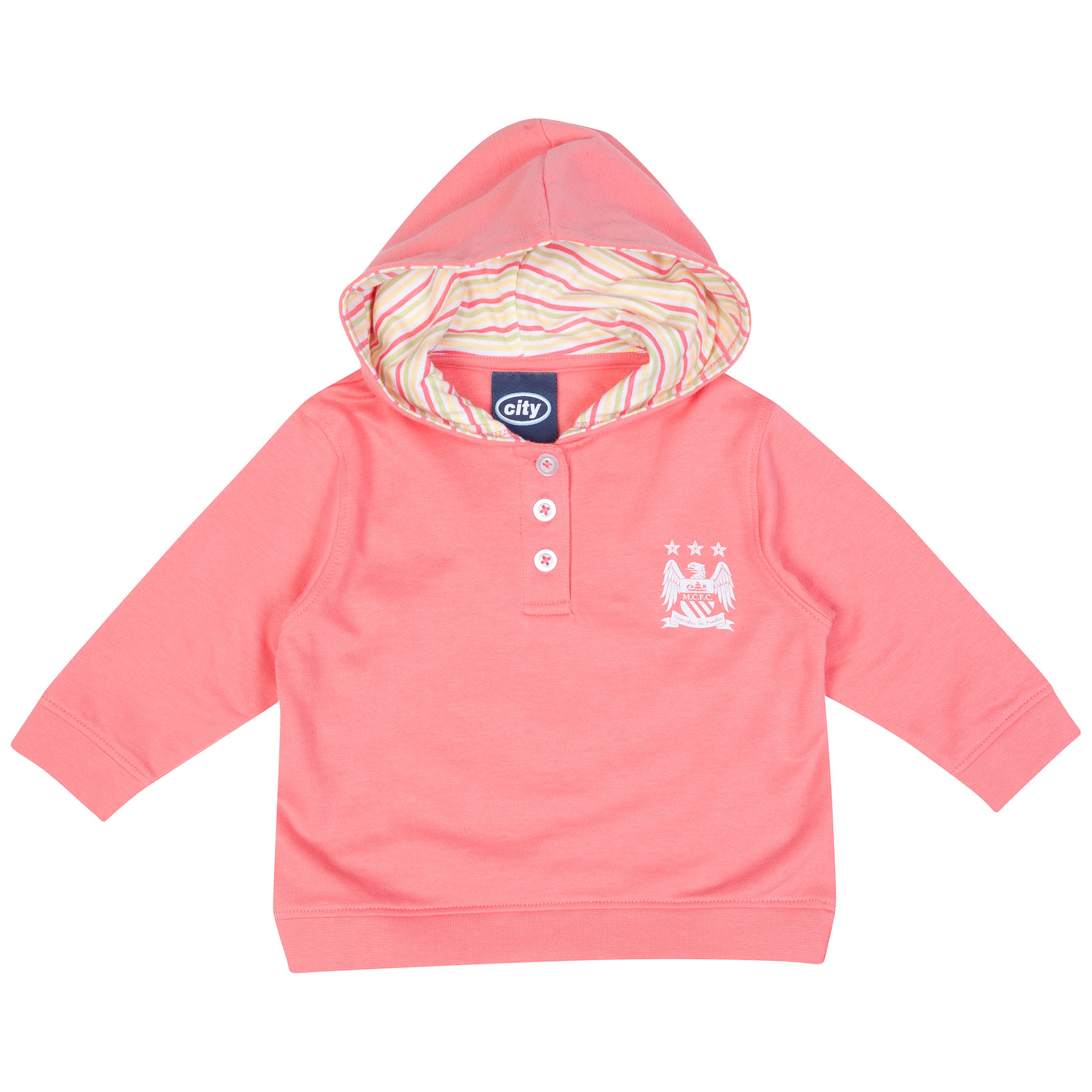 Manchester City Halo Hoodie-Baby Pink