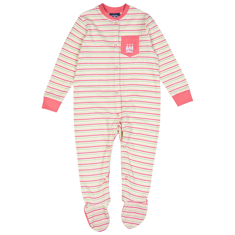 Manchester City Sleepy Sleepsuit-Baby Pink