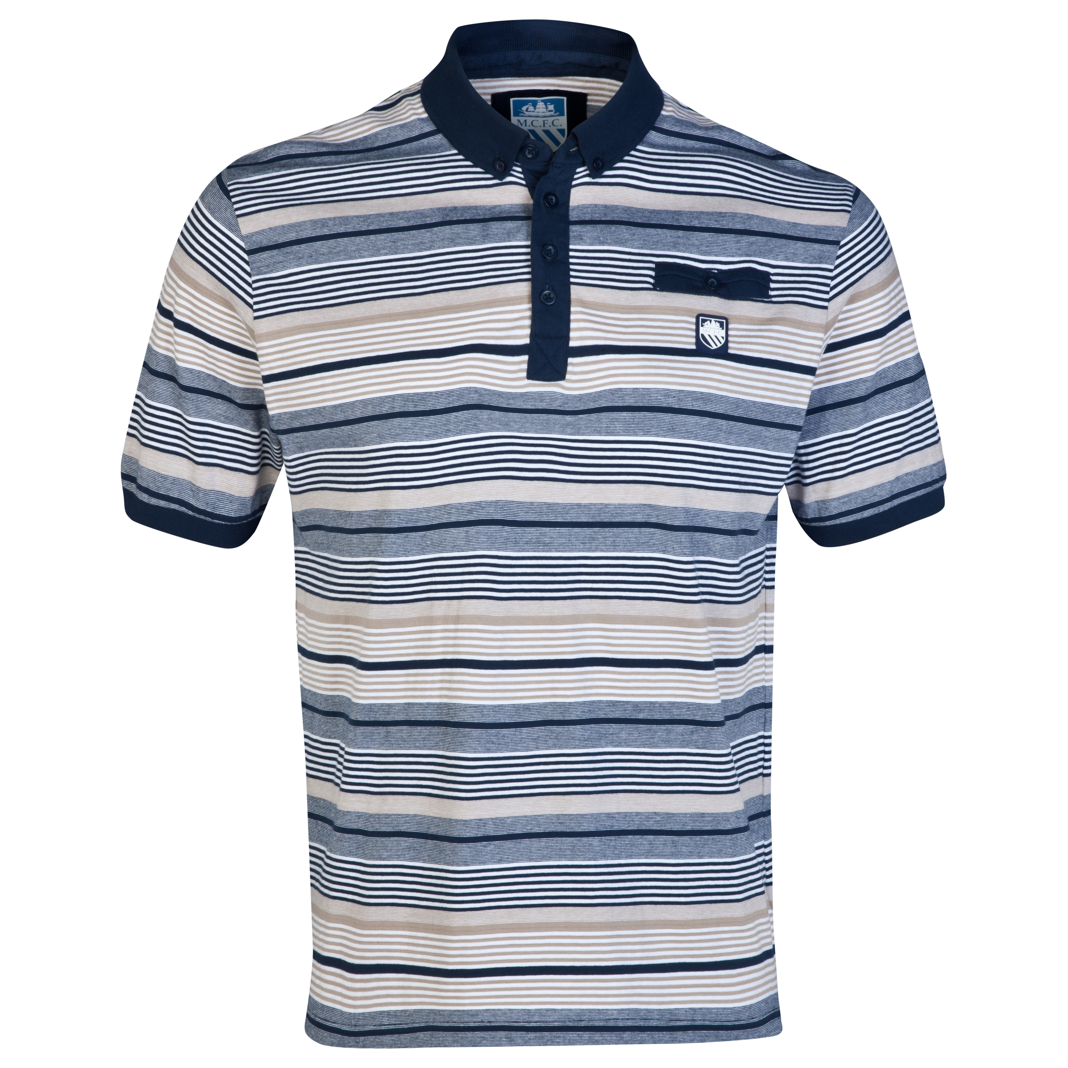 Manchester City Linea Polo Shirt-Mens Multi