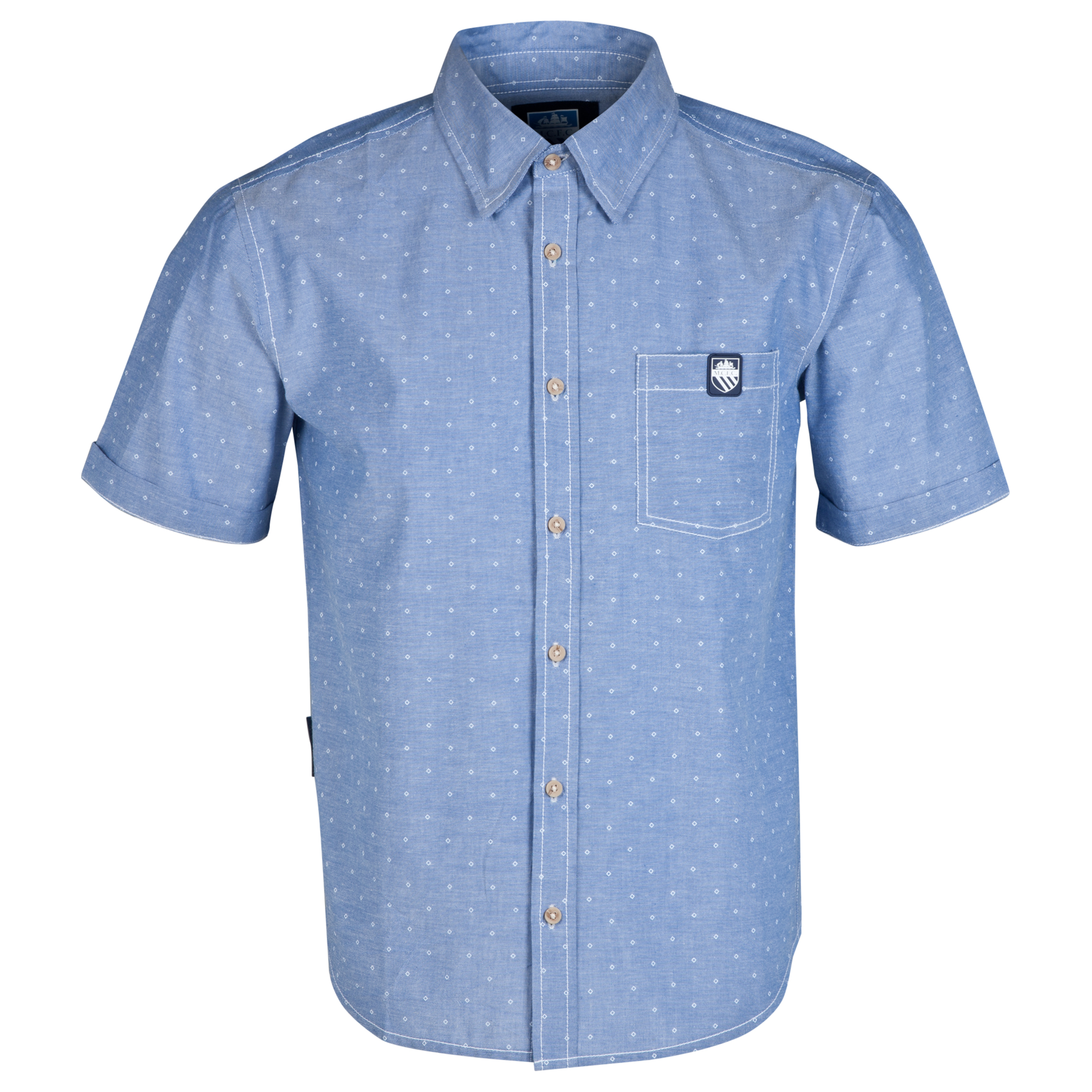 Manchester City Rombus Shirt-Mens Lt Blue