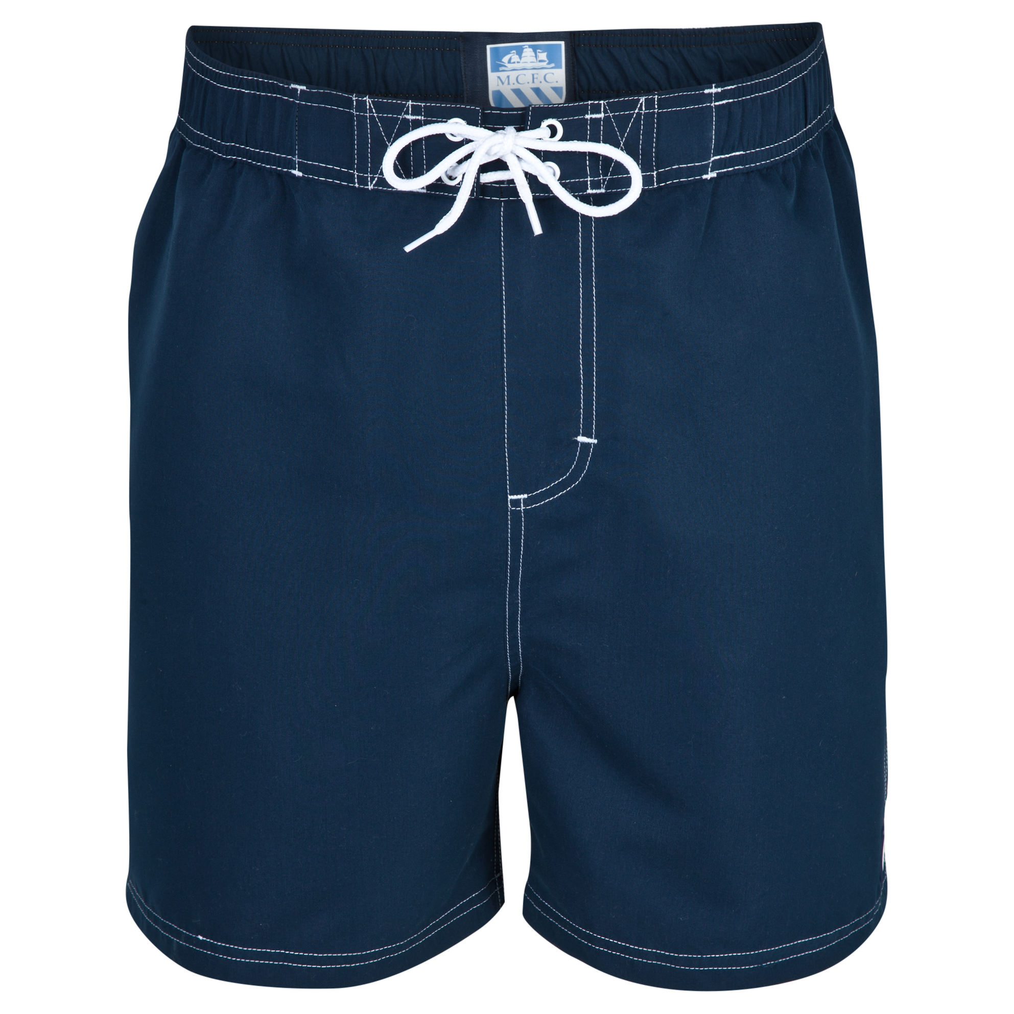 Manchester City Block Shorts-Older Boys Lt Blue