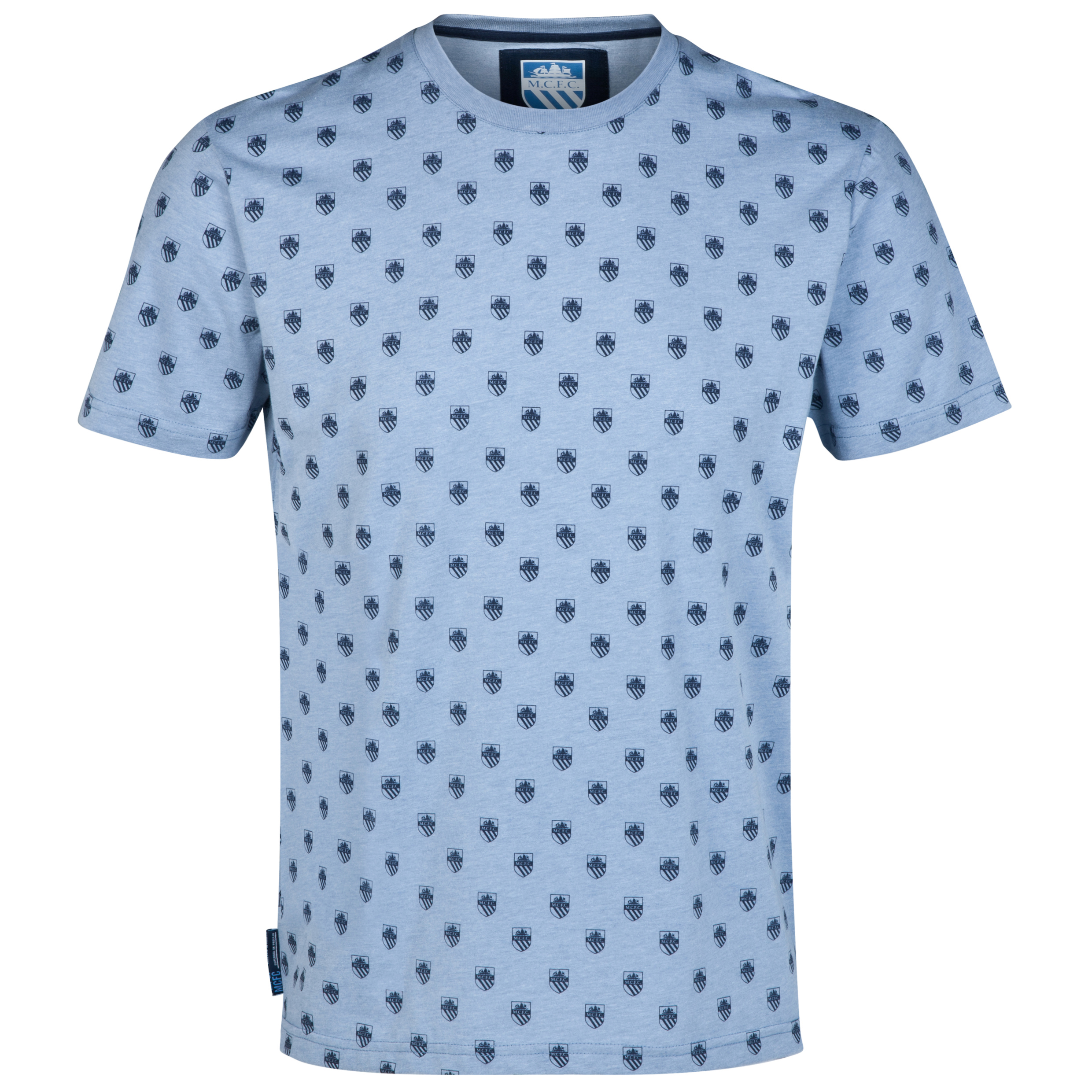 Manchester City Repeat T-Shirt-Mens Lt Blue