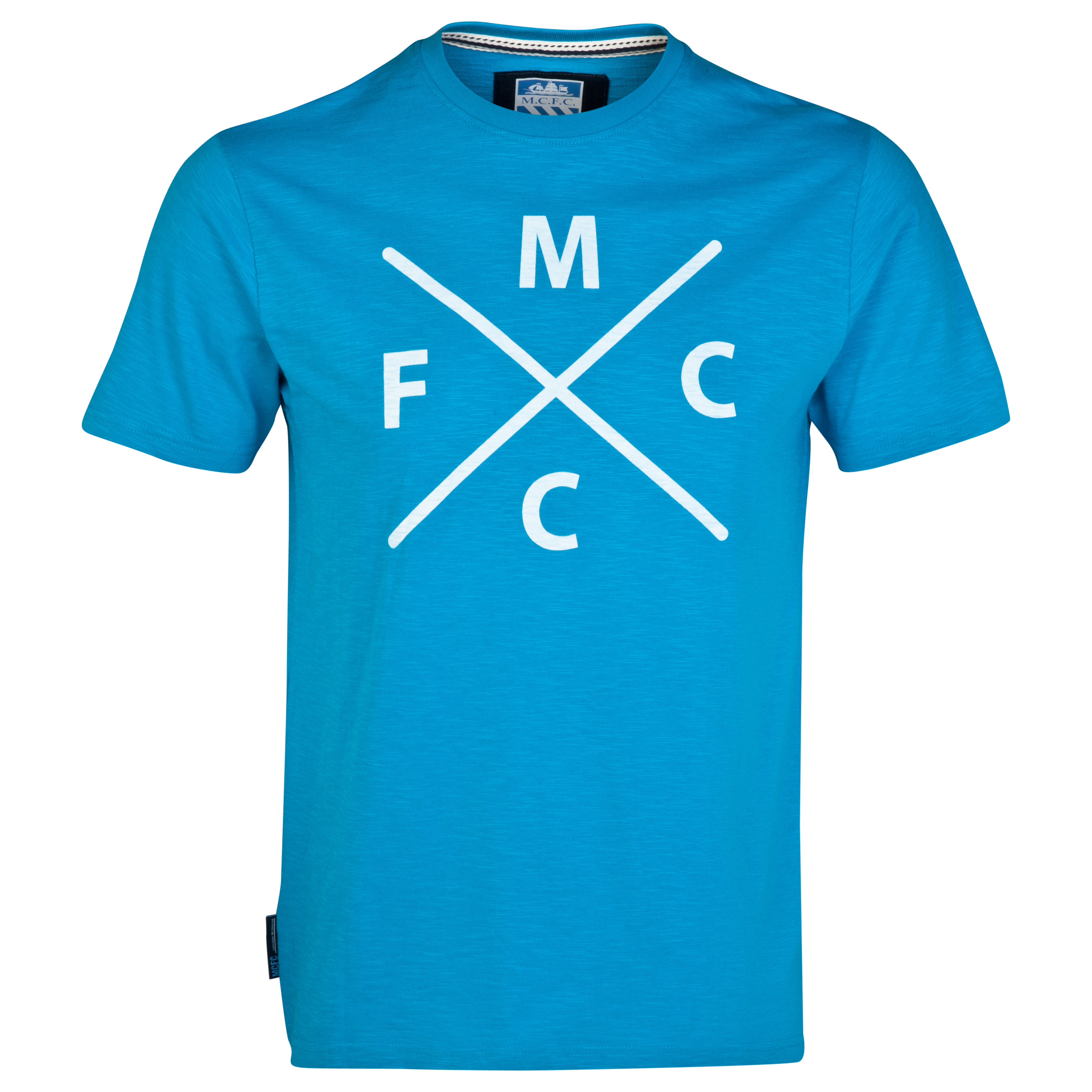 Manchester City Fade T-Shirt-Mens Lt Blue