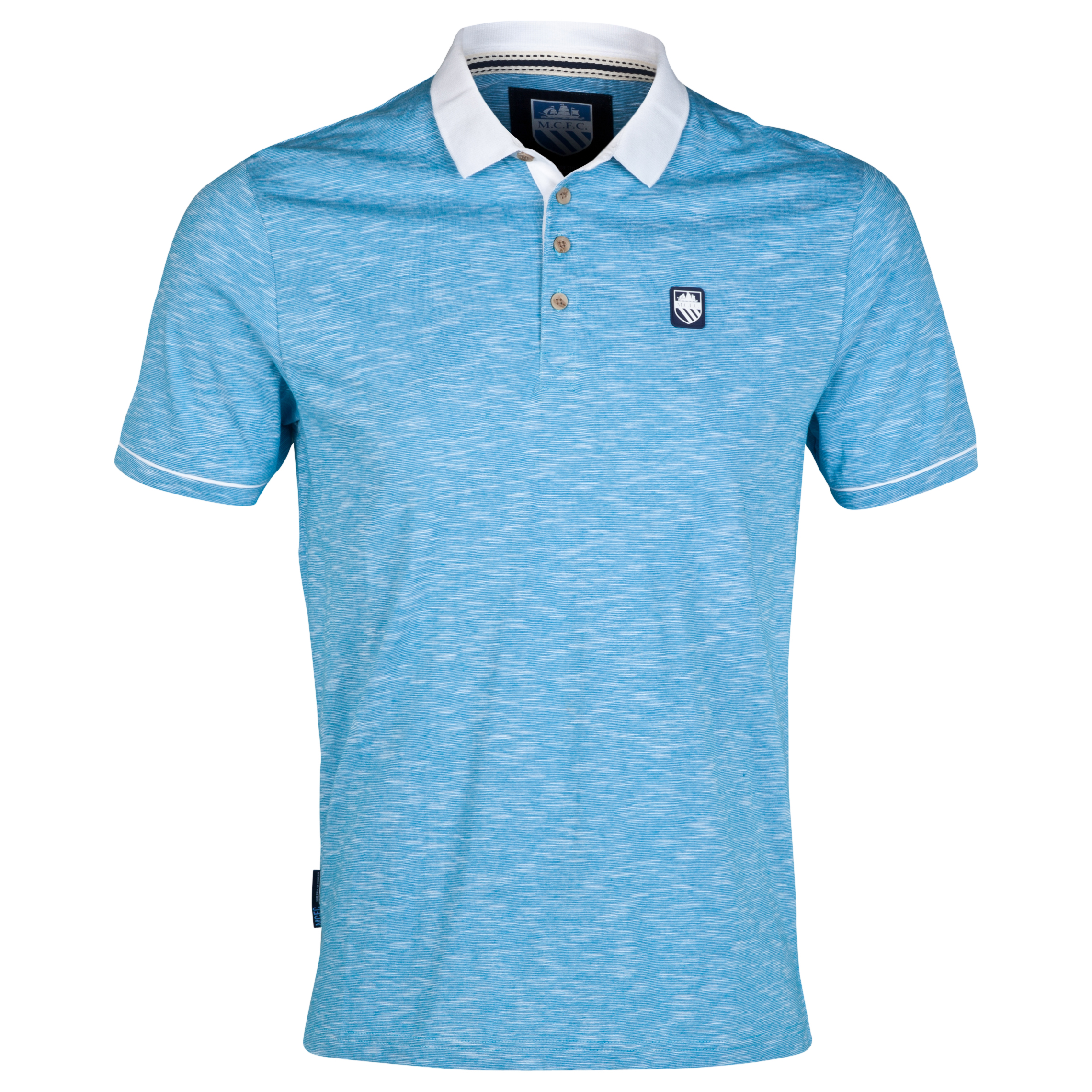 Manchester City Gaps Polo Shirt-Mens Lt Blue