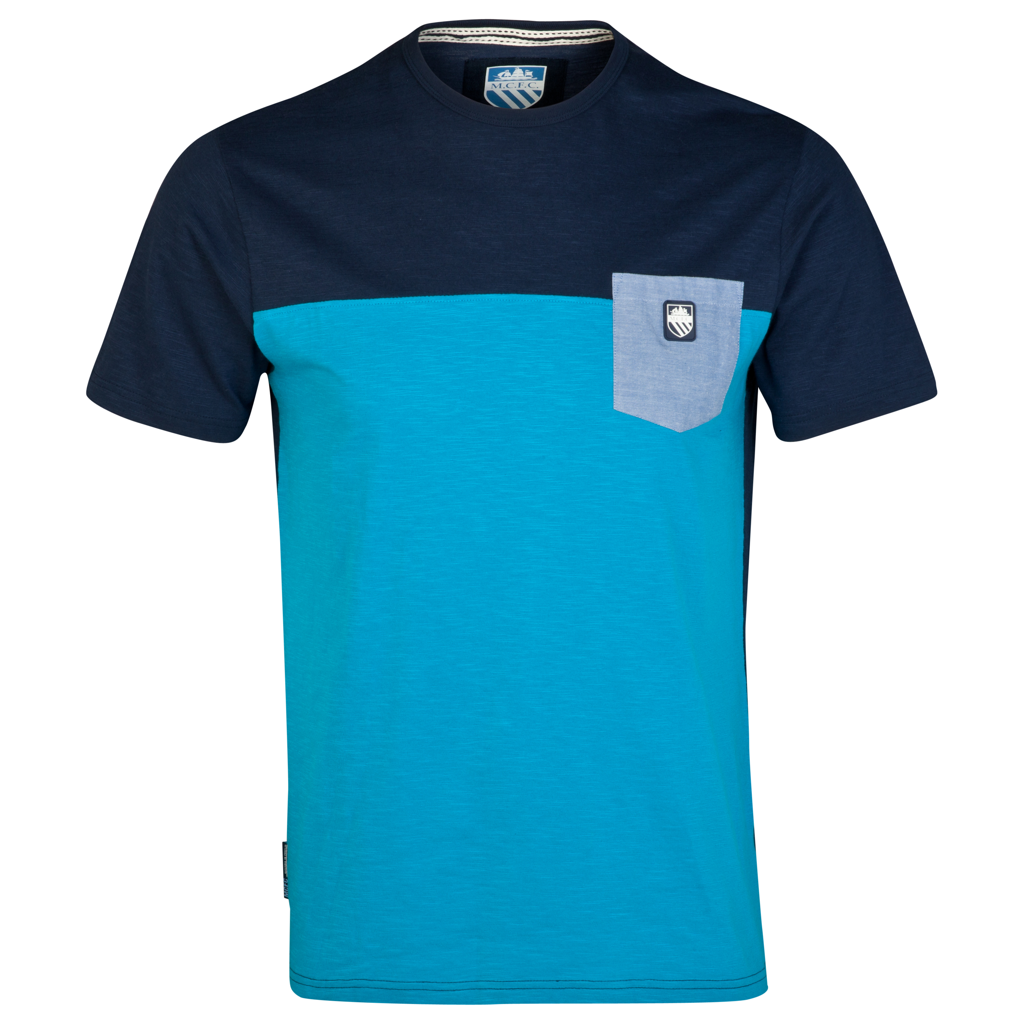 Manchester City Patch T-Shirt-Mens Lt Blue
