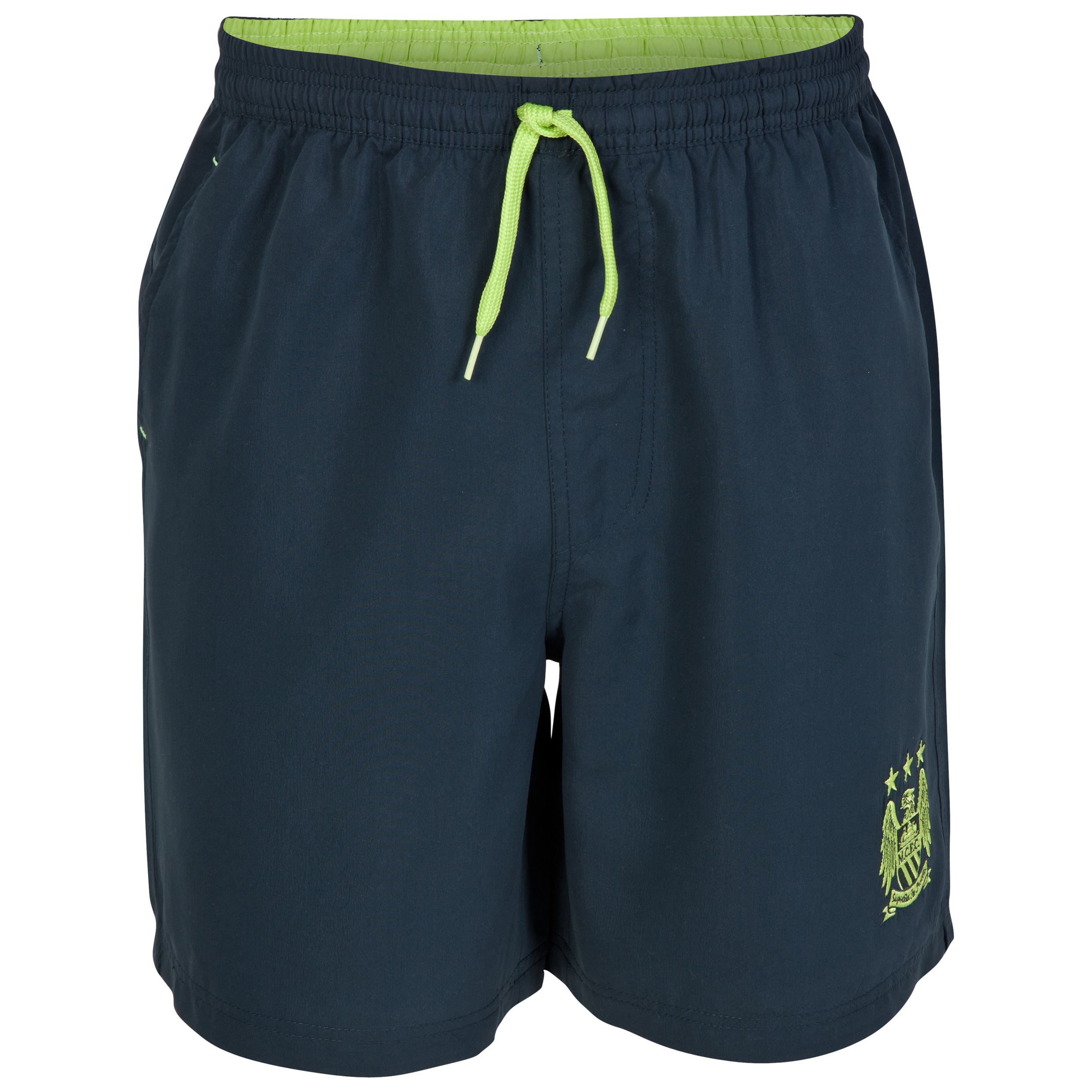 Manchester City Essential Strobe Shorts-Mens Navy