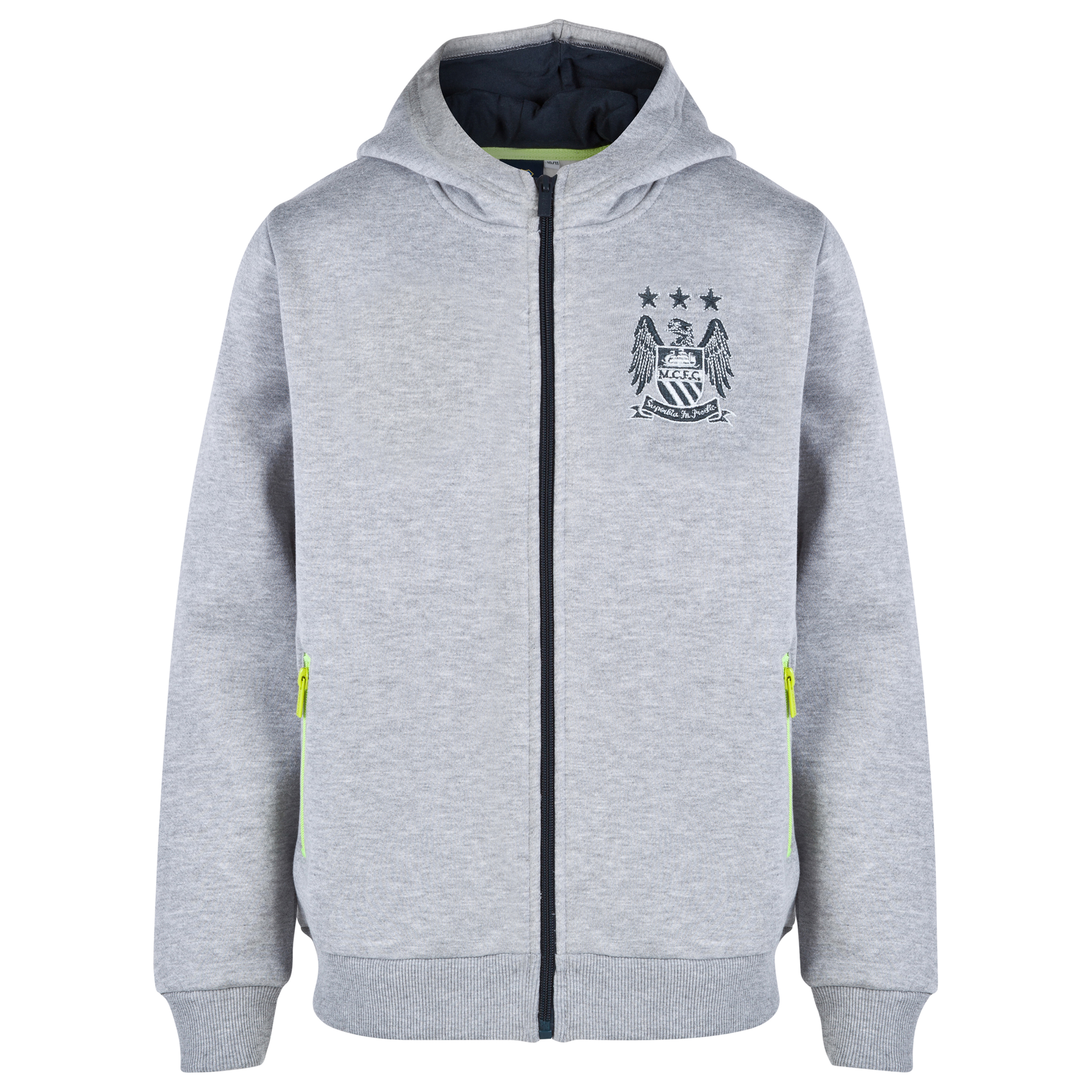 Manchester City Essential Demo Hoodie-Older Boys Lt Grey