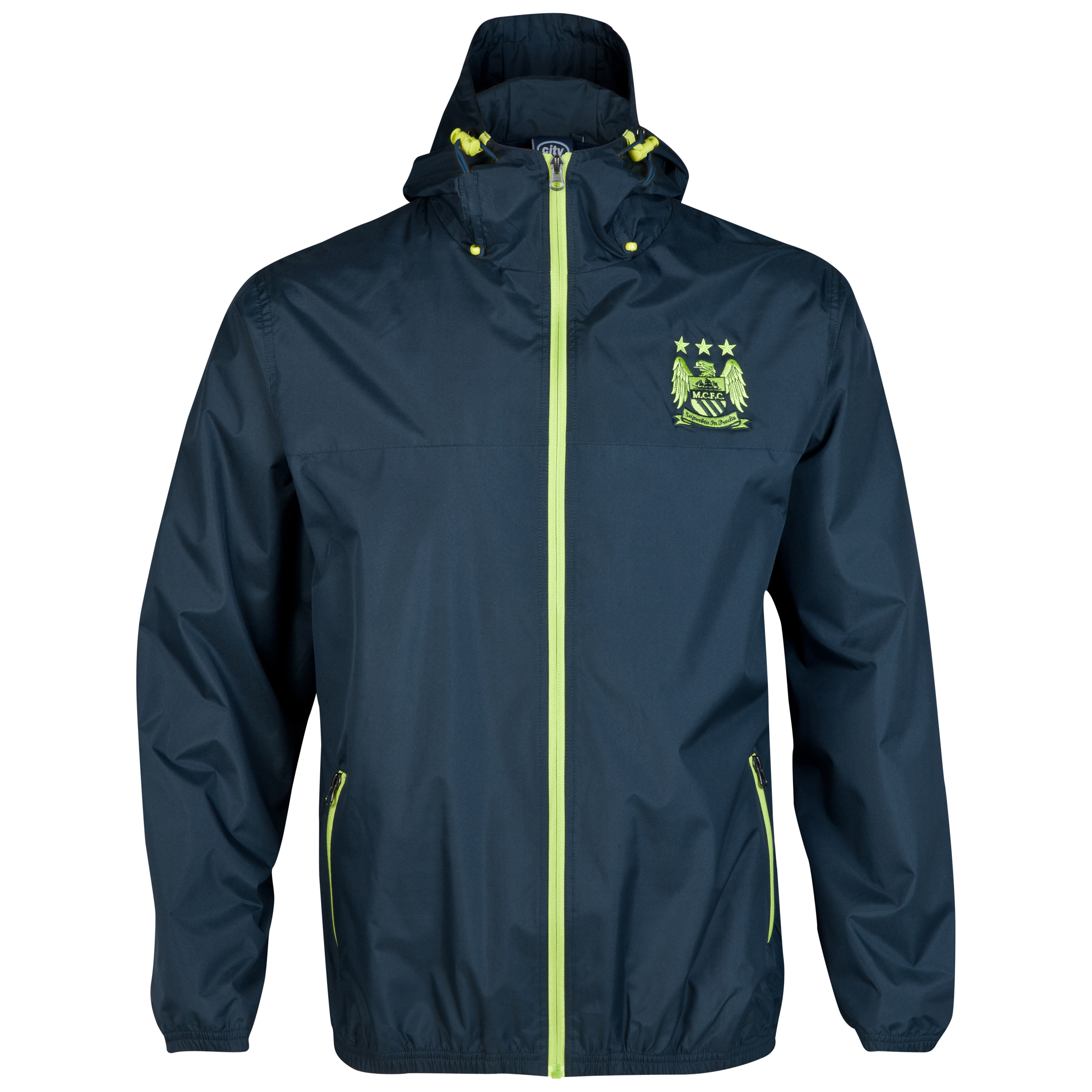 Manchester City Essential Bolt Jacket-Mens Navy