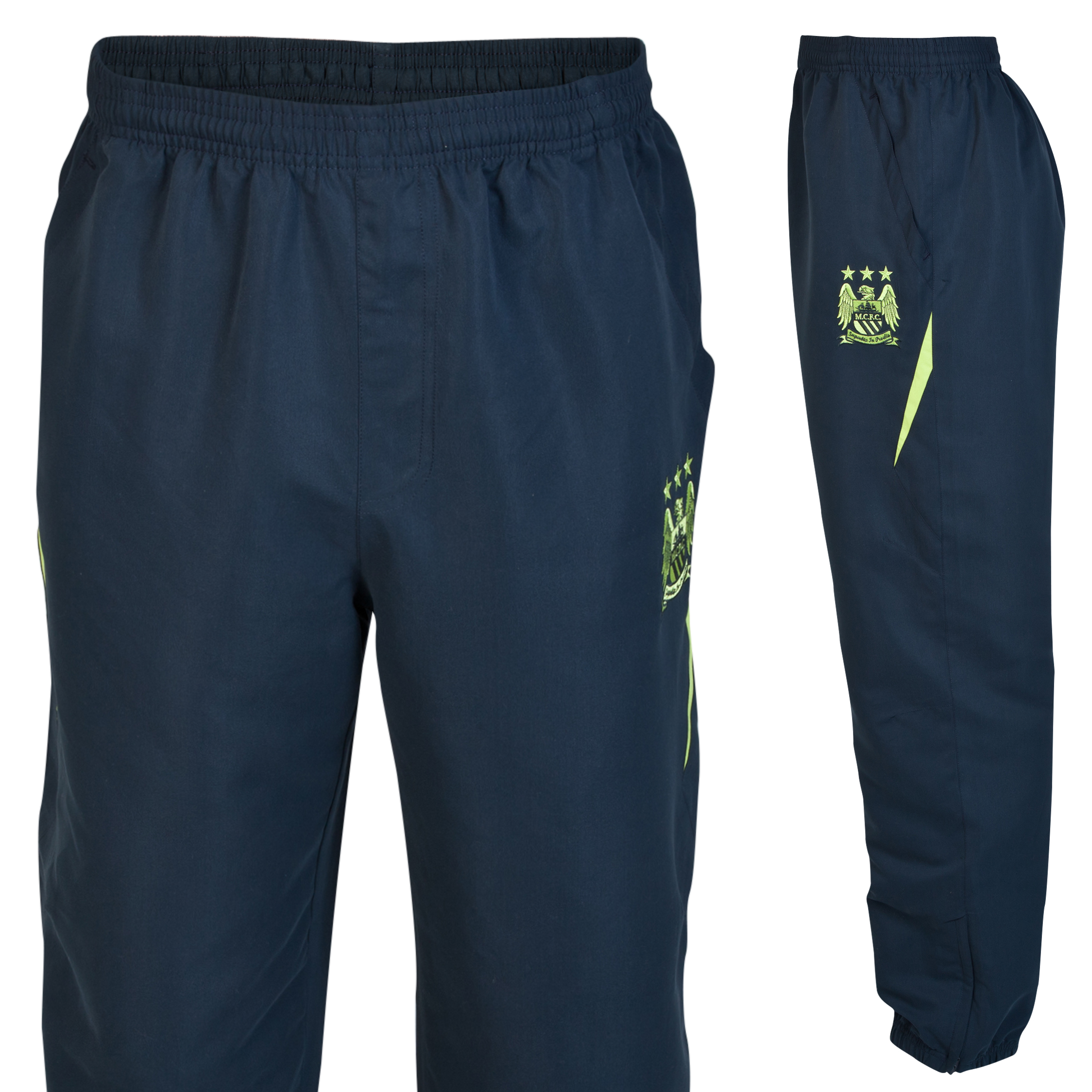 Manchester City Essential Pitch Pants-Mens Navy