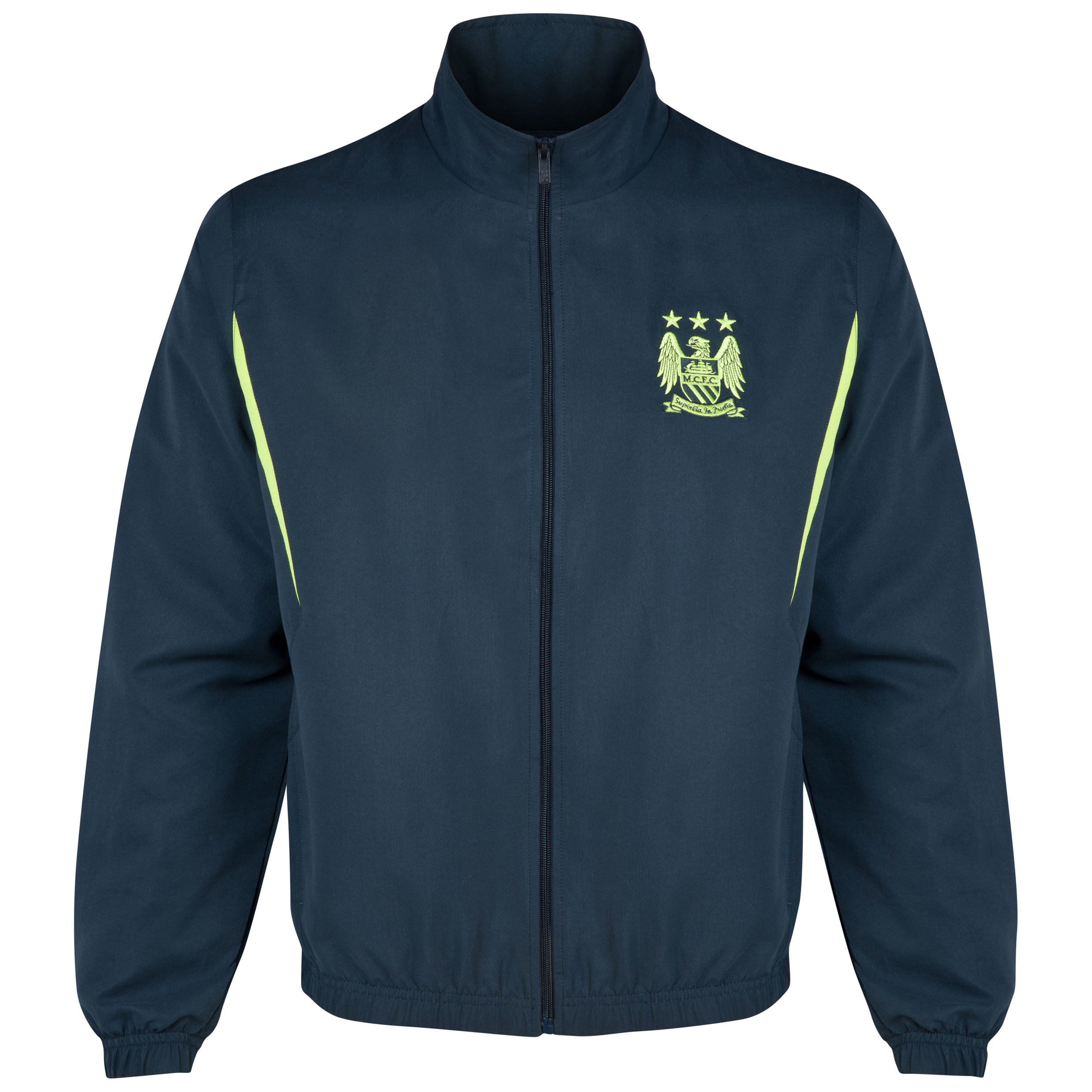 Manchester City Essential Flash Track Jacket-Mens Navy