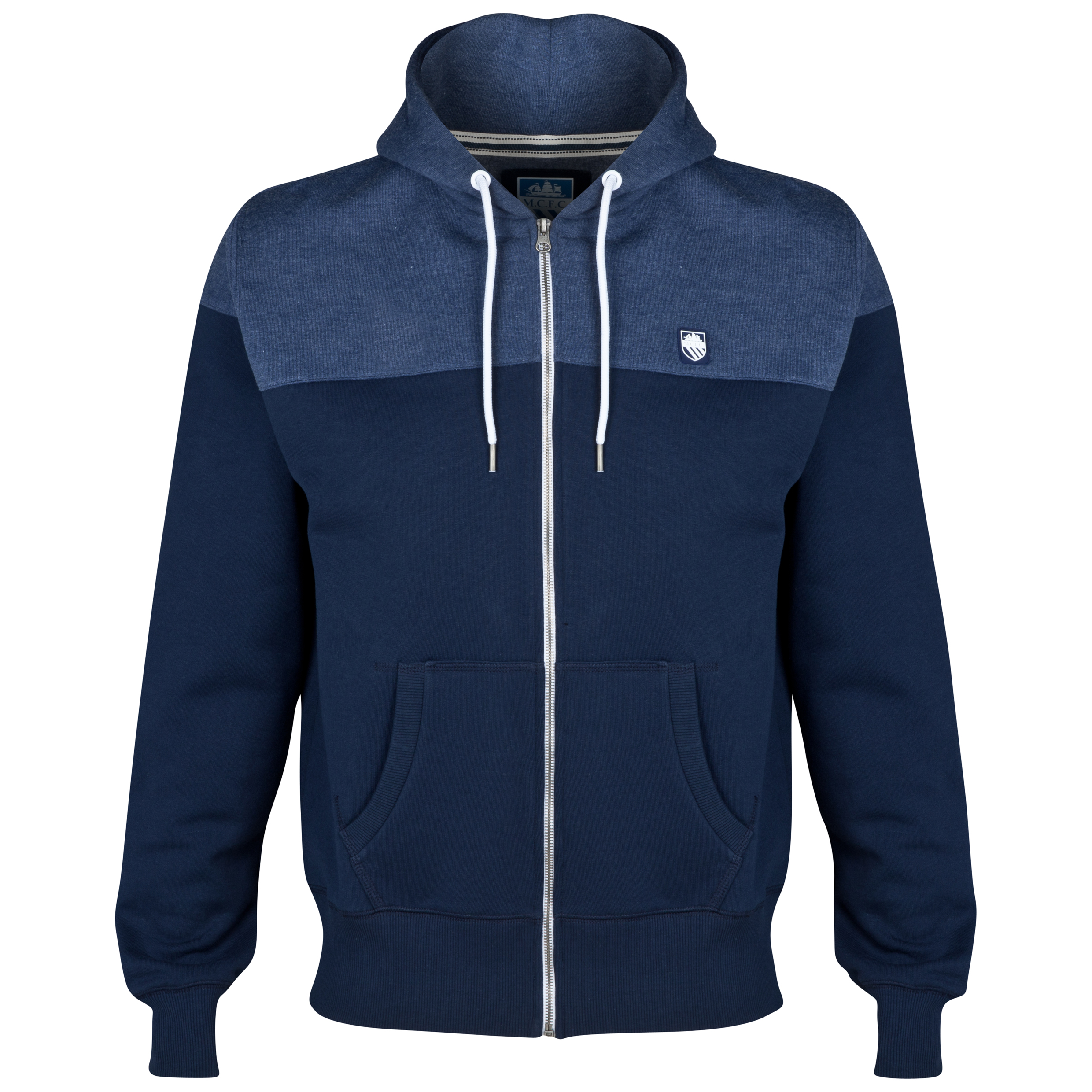 Manchester City Cross Hoodie-Mens Navy