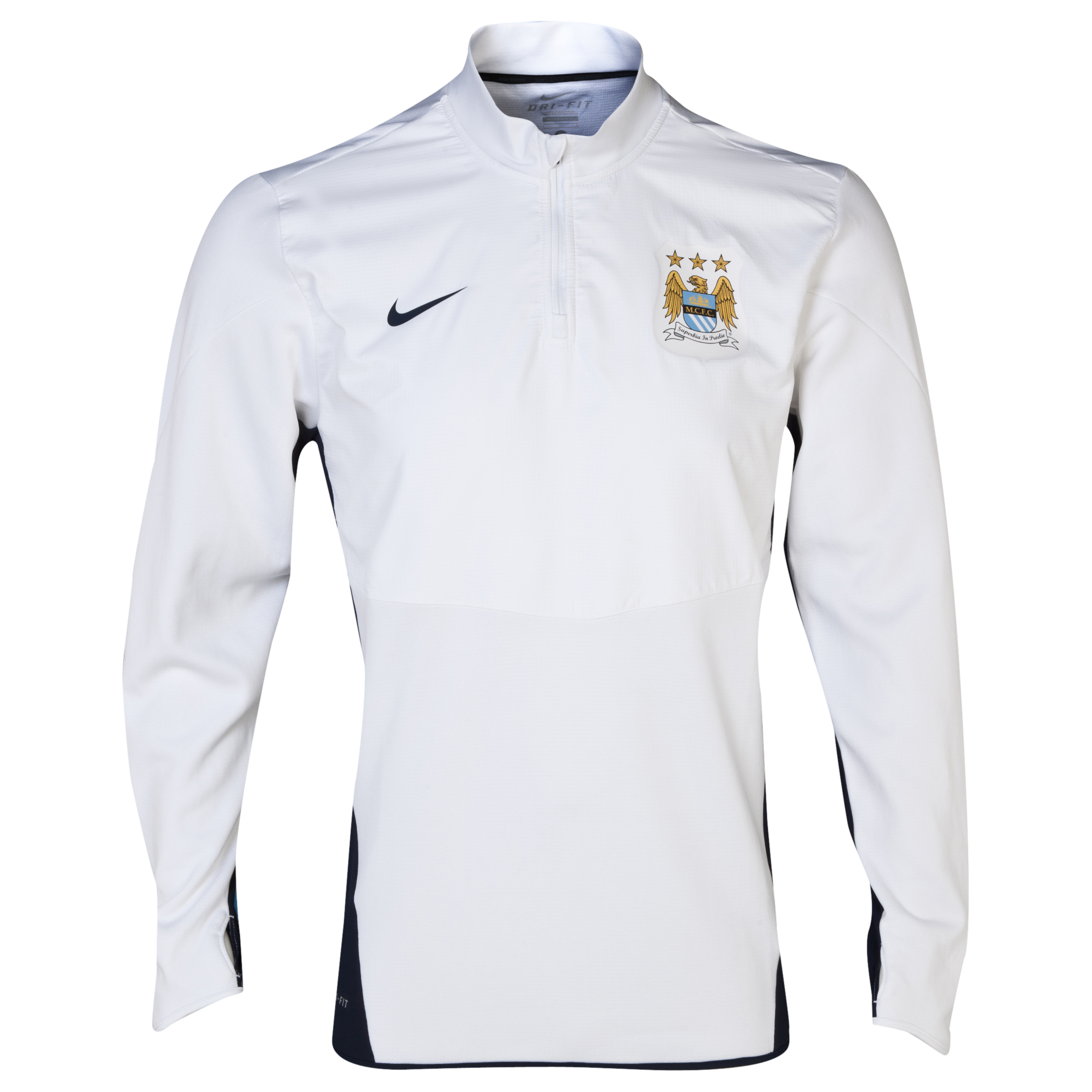 Manchester City UEFA Champions League Midlayer Top White