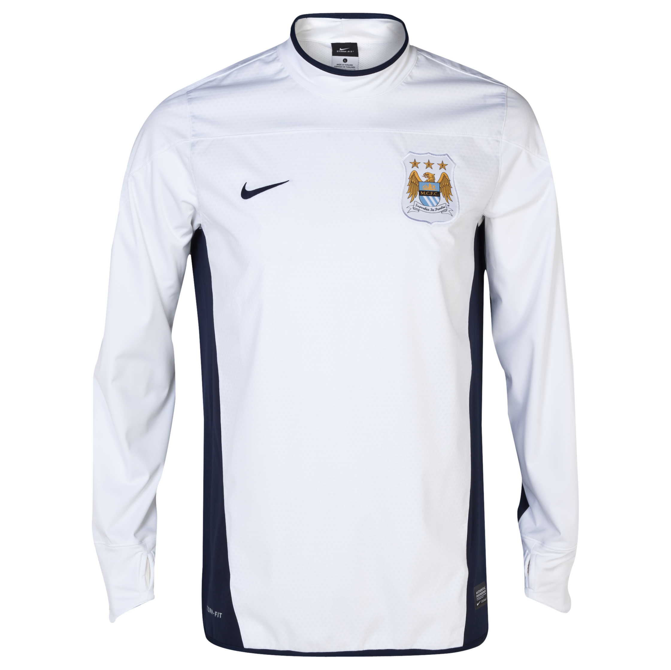 Manchester City UEFA Champions League Shell Top White
