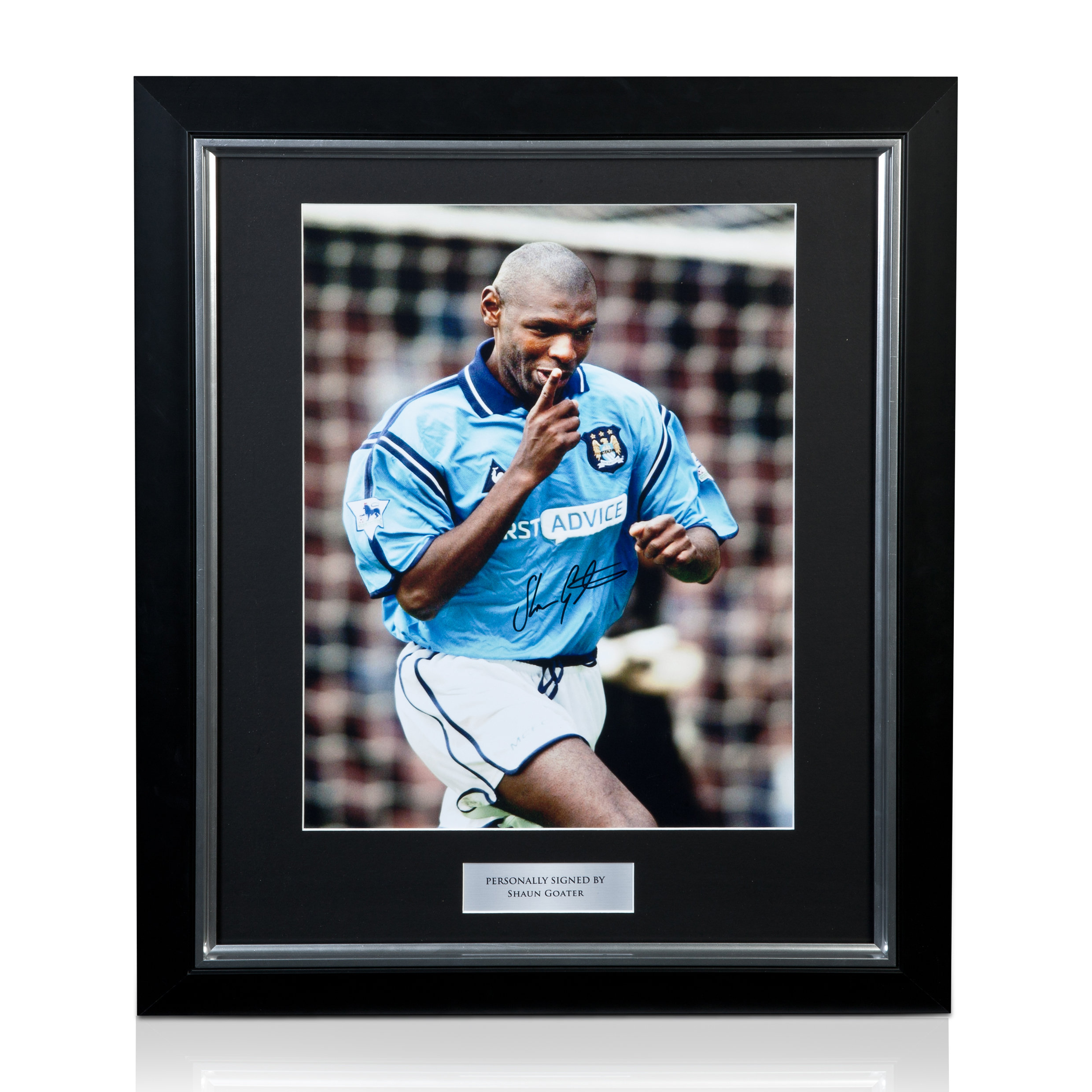 Manchester City Shaun Goater Signed and framed print