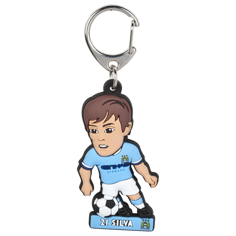Manchester City Silva PVC Keyring