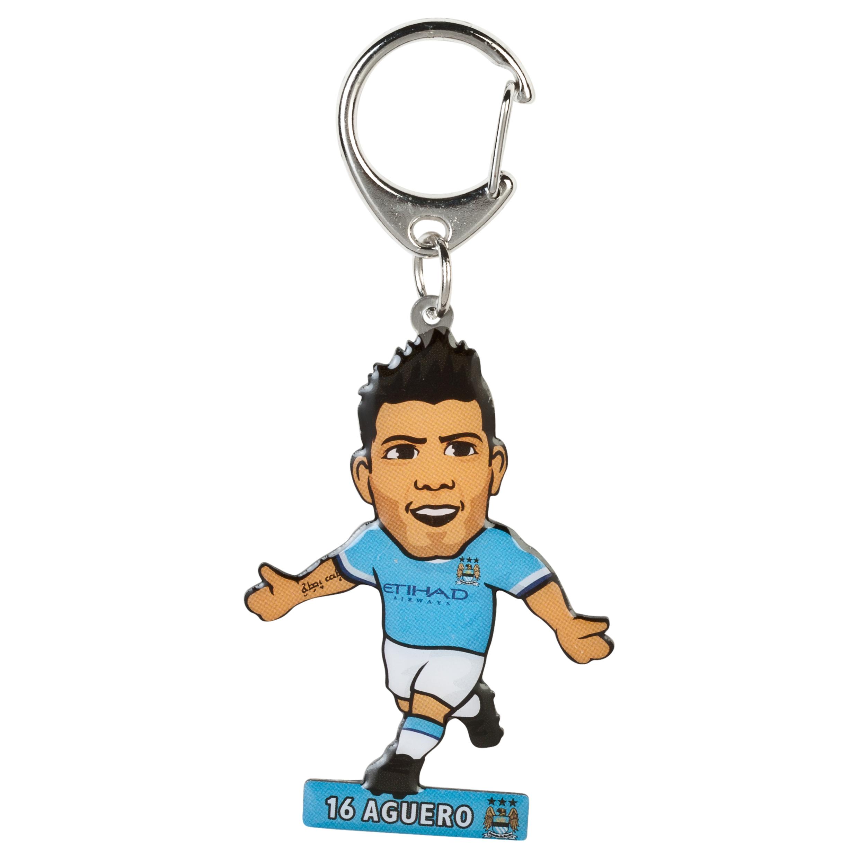 Manchester City Aguero Metal Keyring