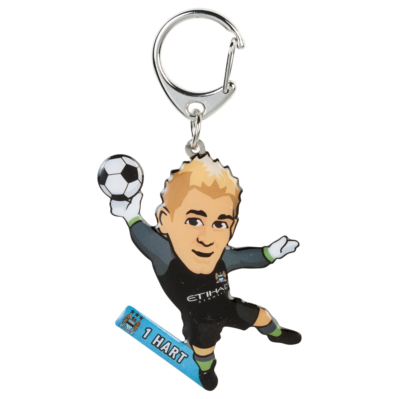 Manchester City Hart Metal Keyring