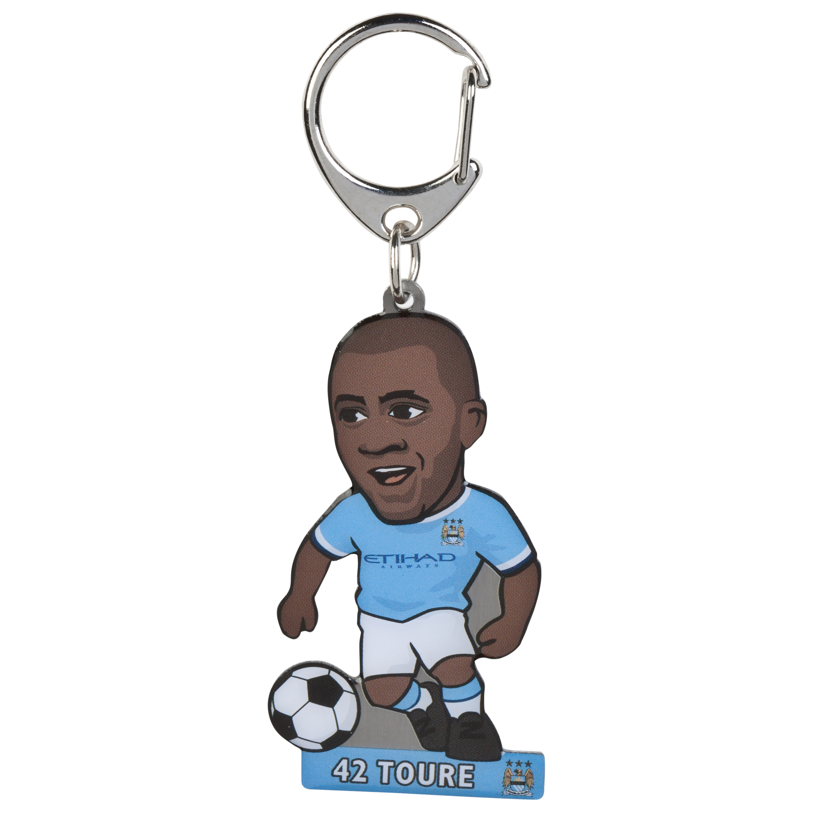 Manchester City Yaya Toure Metal Keyring