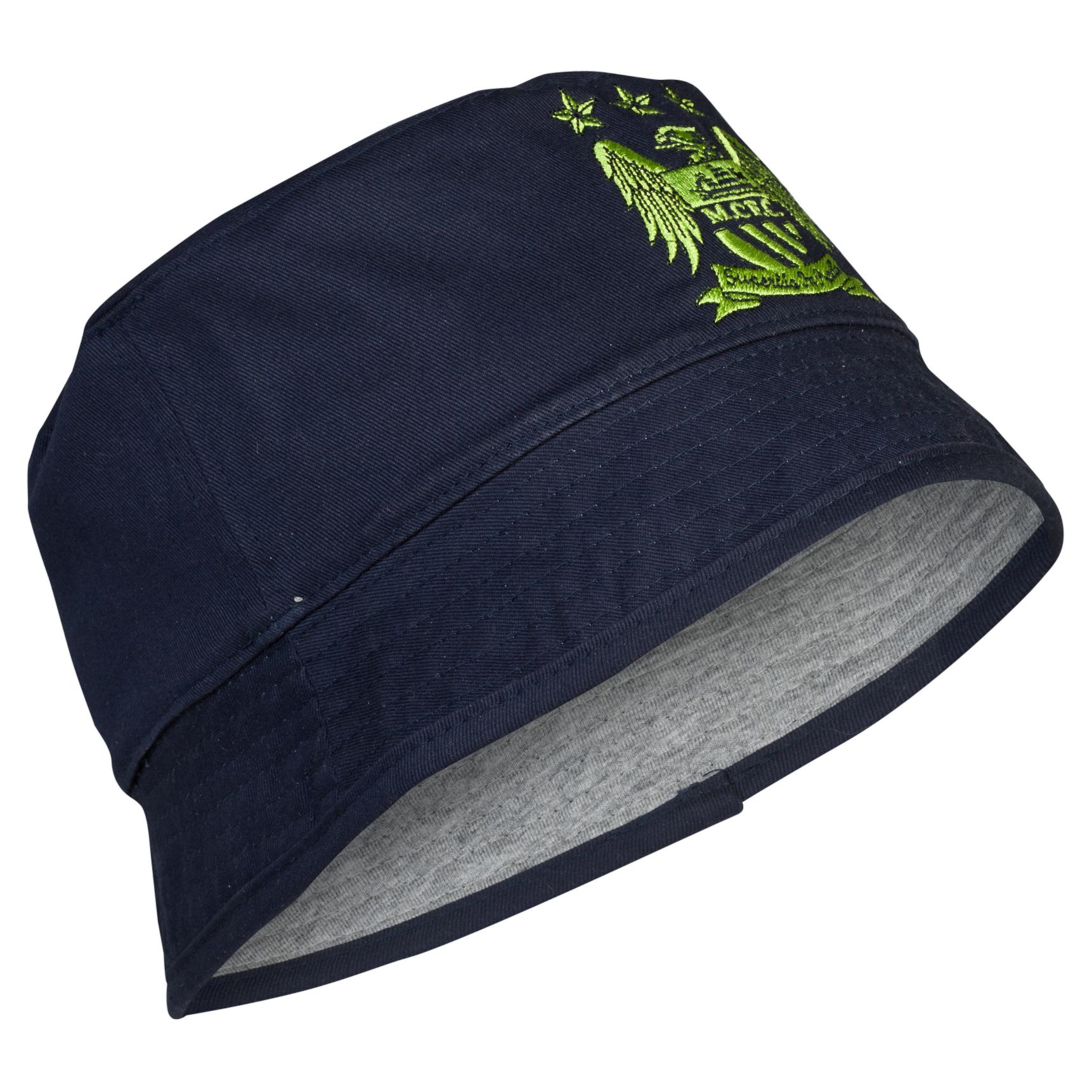 Manchester City Essential Shade Bucket Hat - Navy/Sky