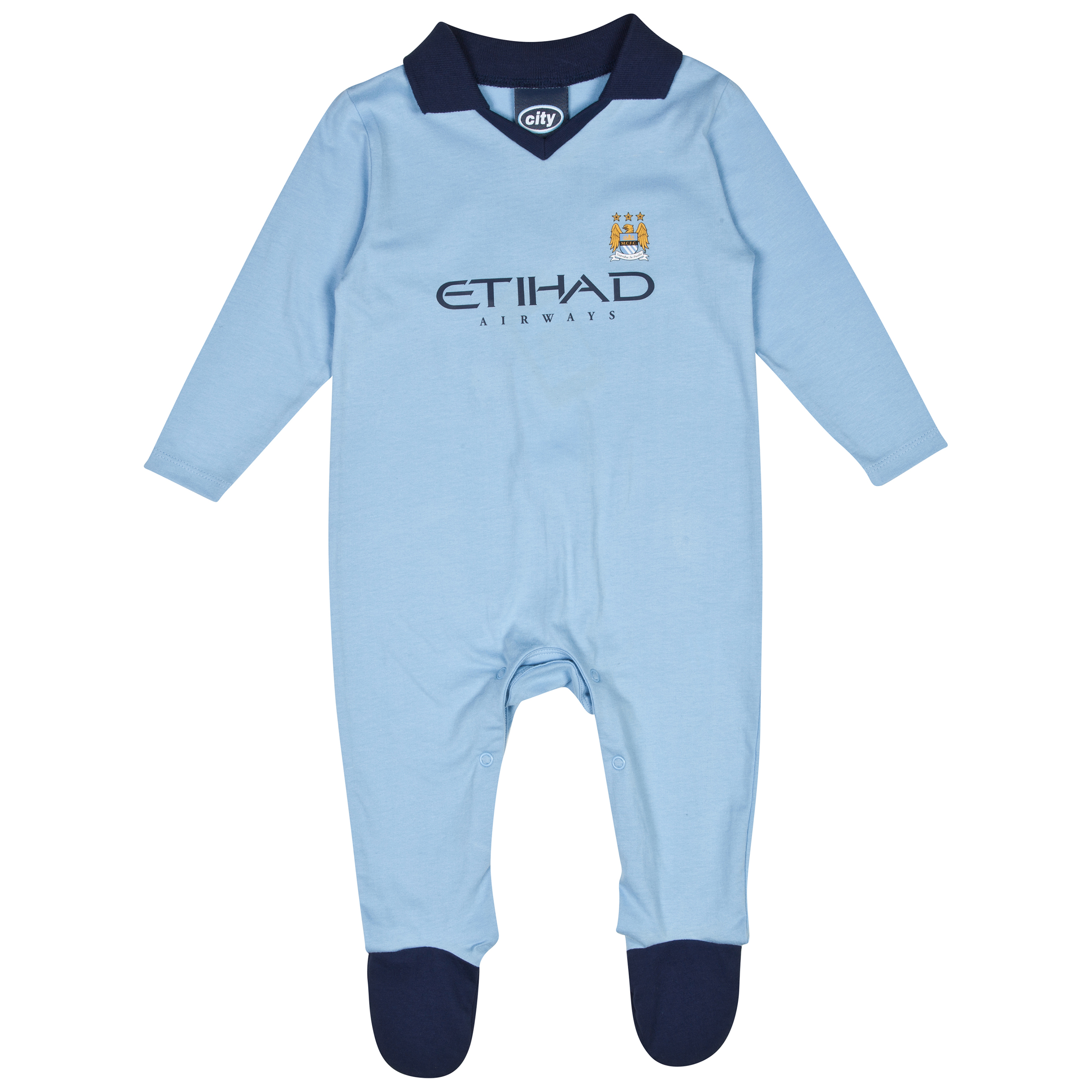Manchester City 14/15 Sleepsuit - Sky - Baby