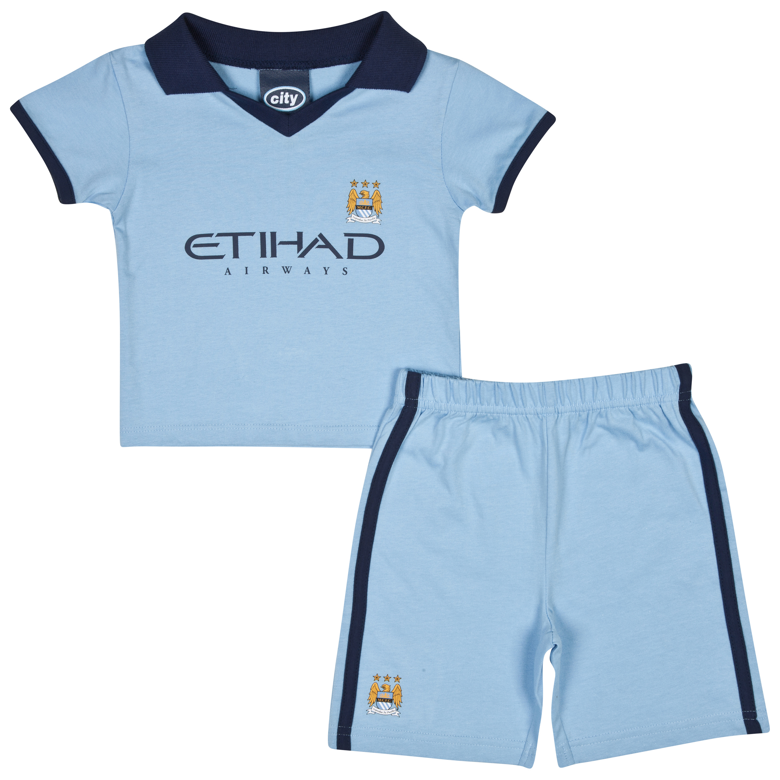 Manchester City 14/15 Kit Pyjamas - Sky - Baby