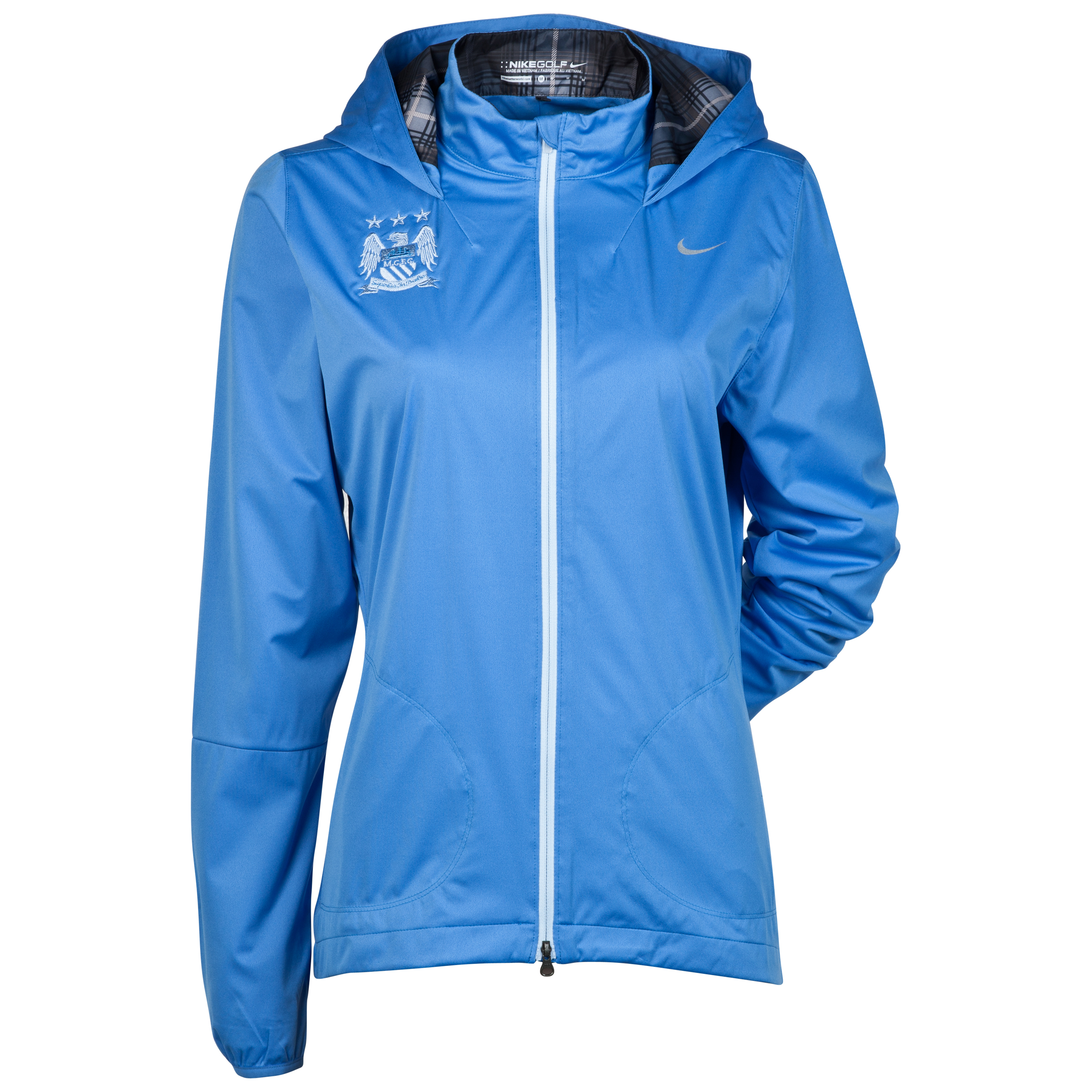Manchester City Nike Windproof Anorak - Womens Blue