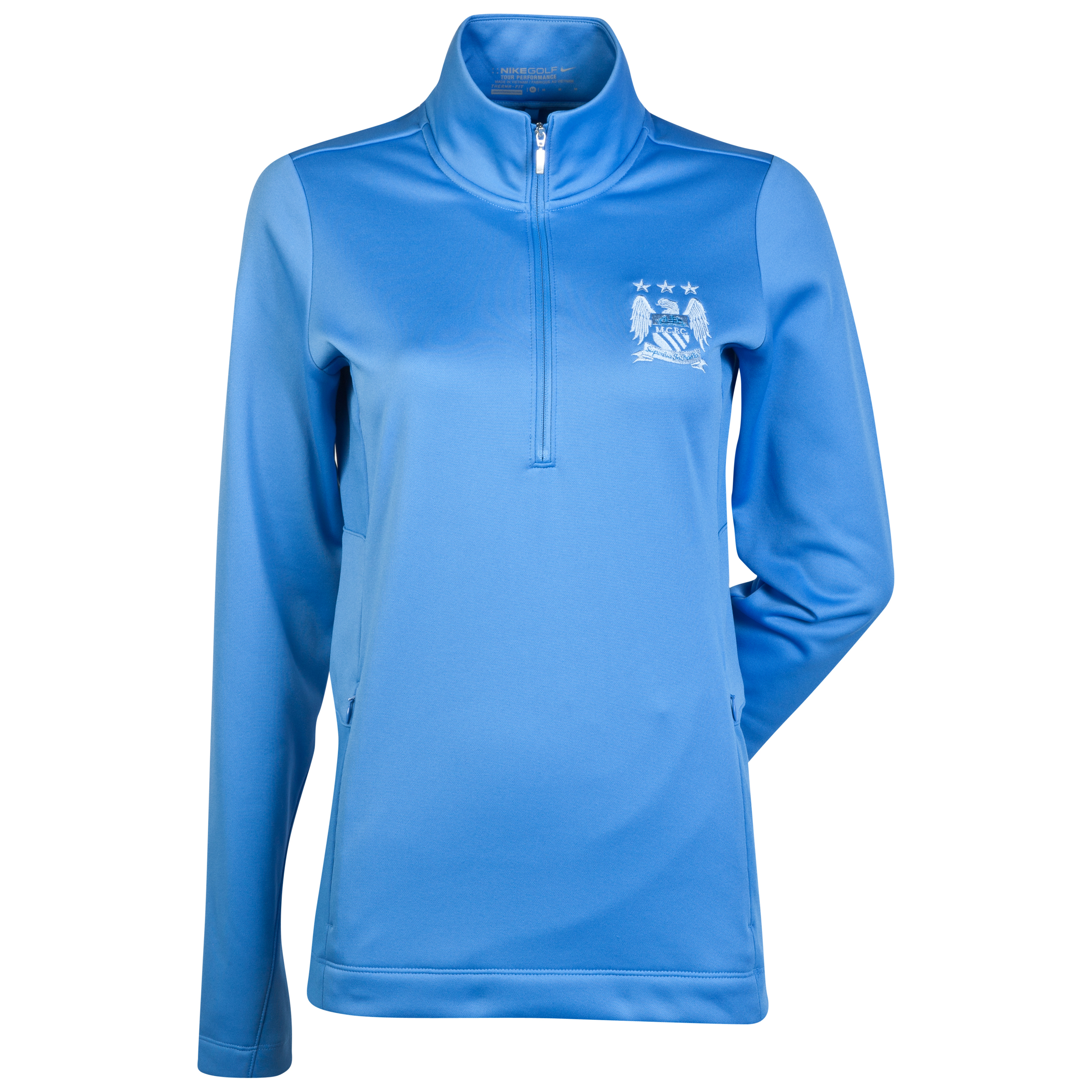 Manchester City Nike Golf Thermal 1/2 Zip Top - Womens Blue