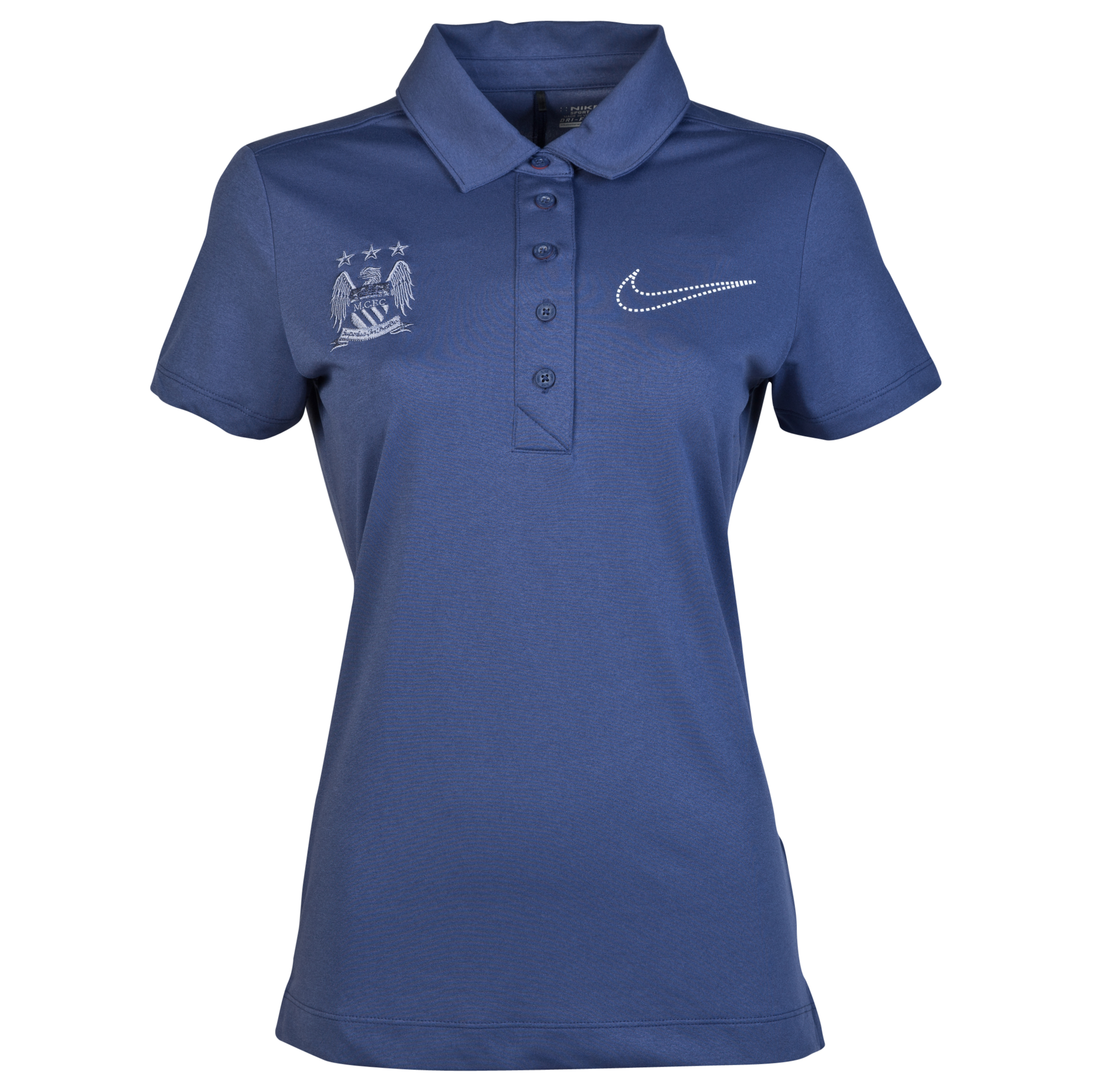 Manchester City Nike Sport Swing Polo - Womens Blue