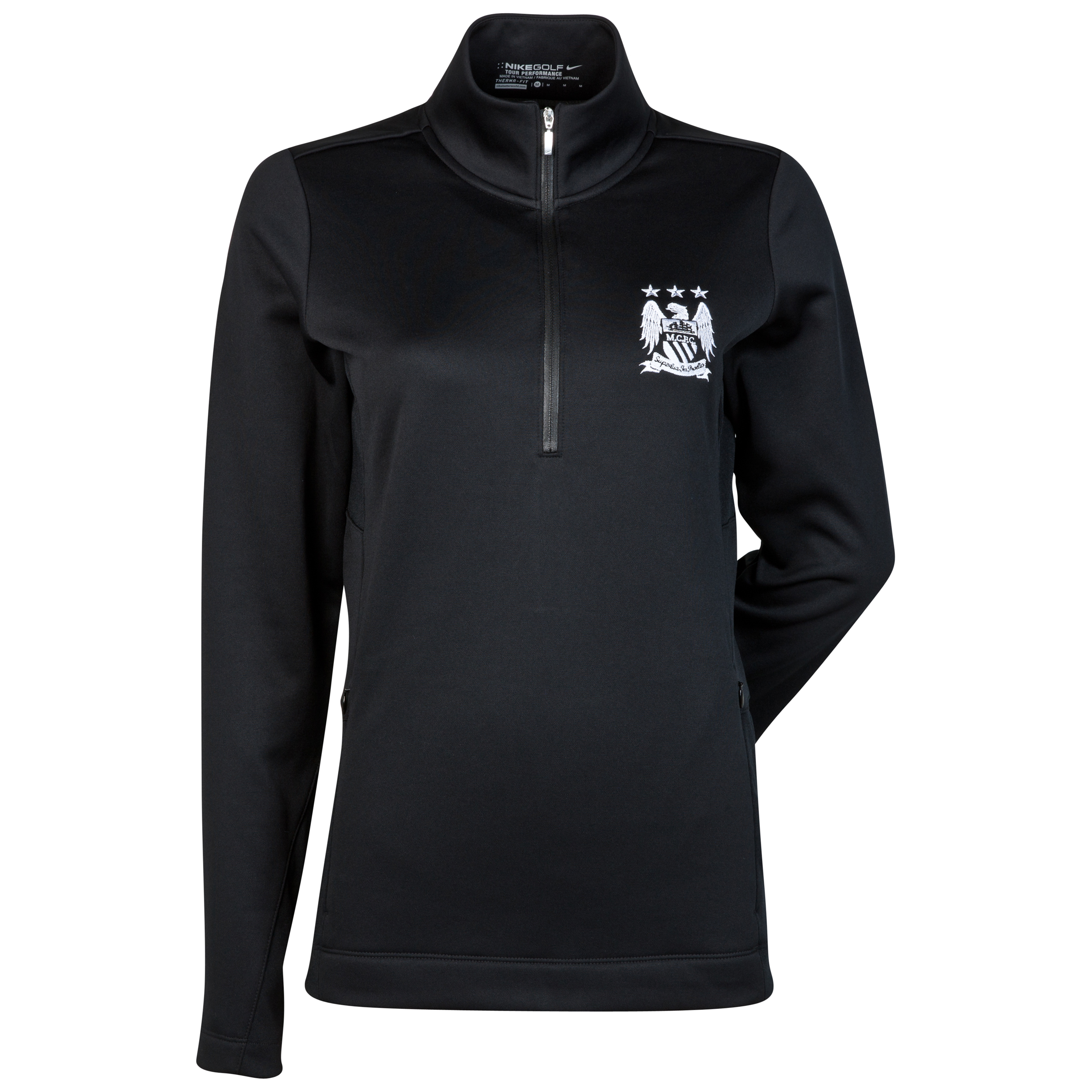 Manchester City Nike Thermal 1/2 Zip Top - Womens Black