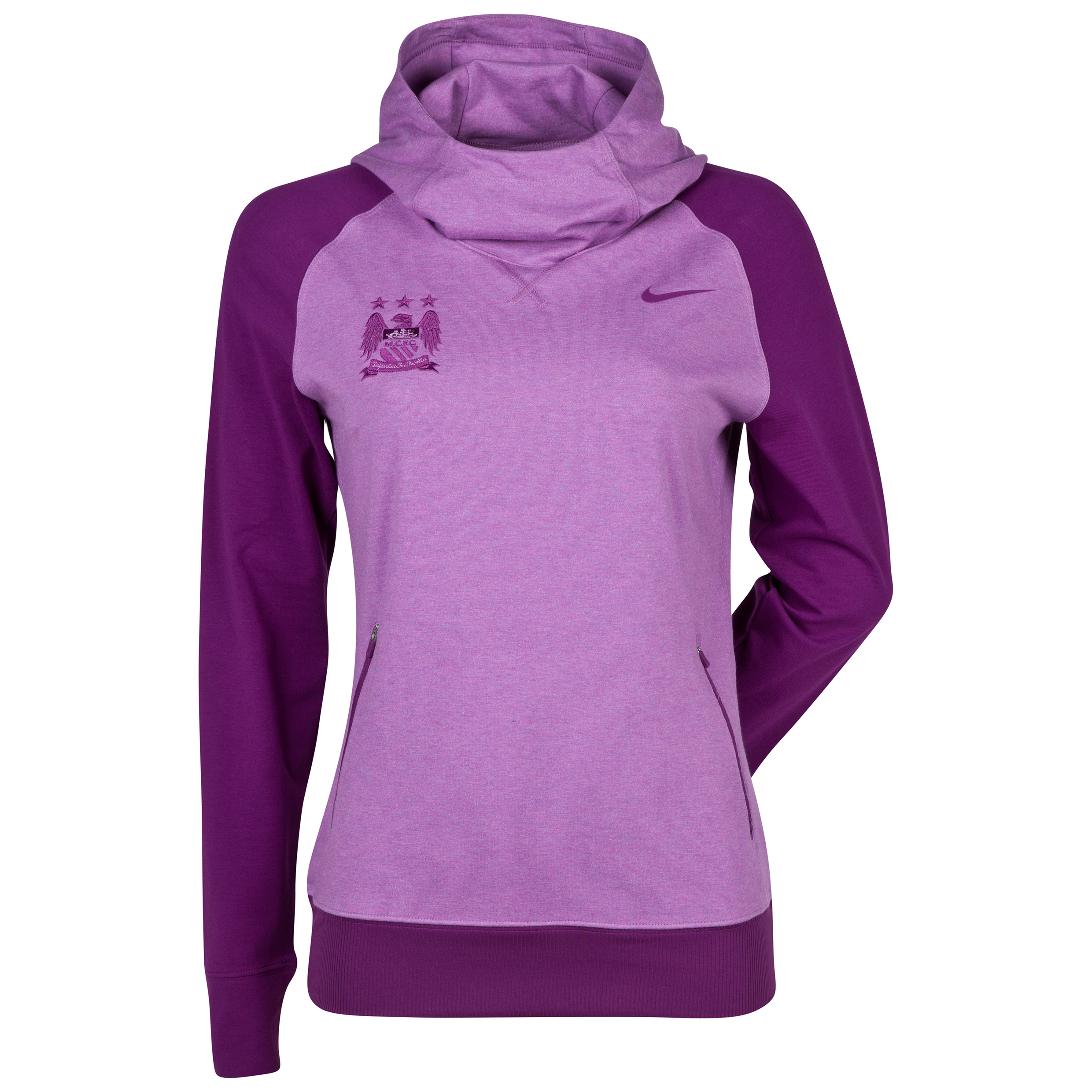 Manchester City Nike Sport Hoody - Womens Purple