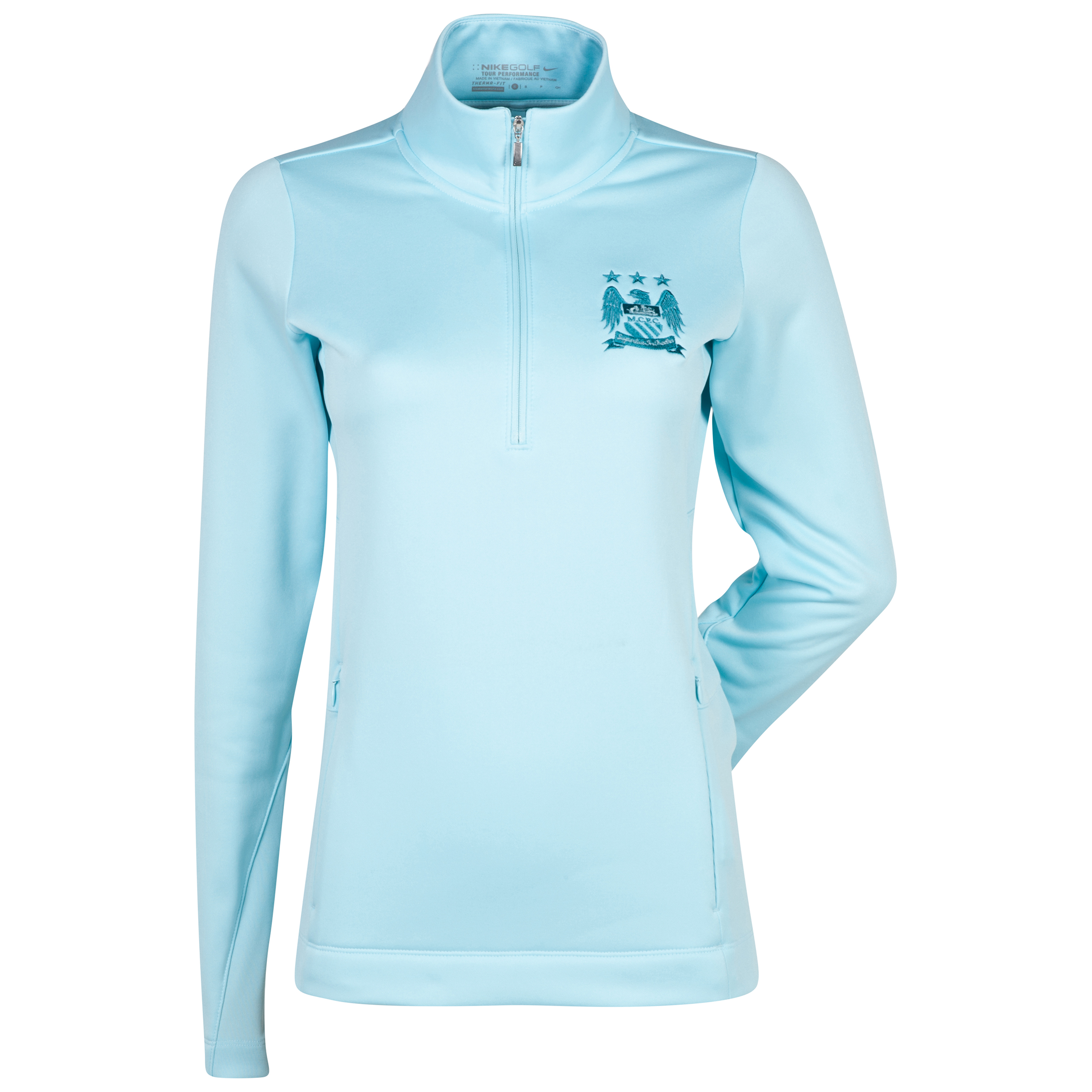 Manchester City Nike Thermal 1/2 Zip Top - Womens Lt Blue