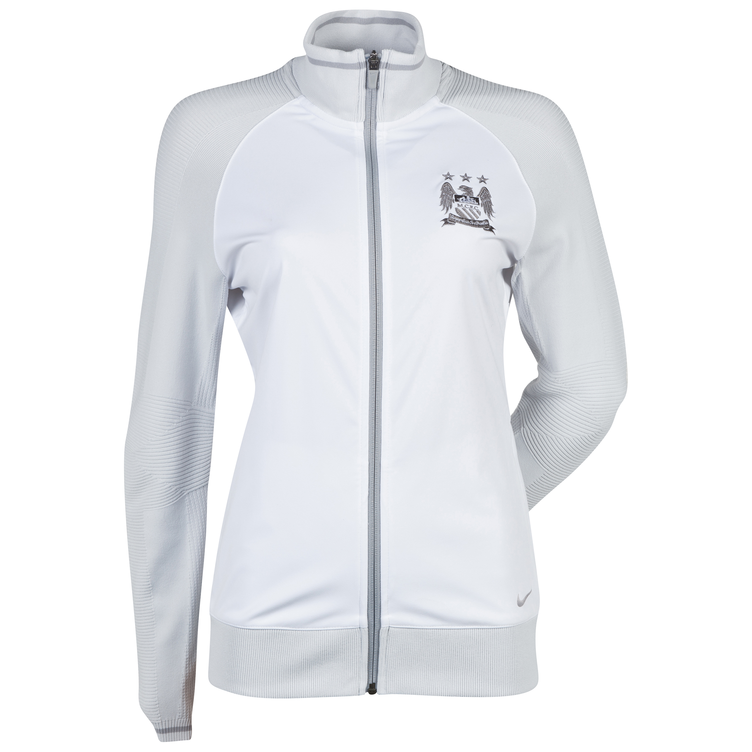 Manchester City Nike Full Zip Cover Up Jacket - Womens White