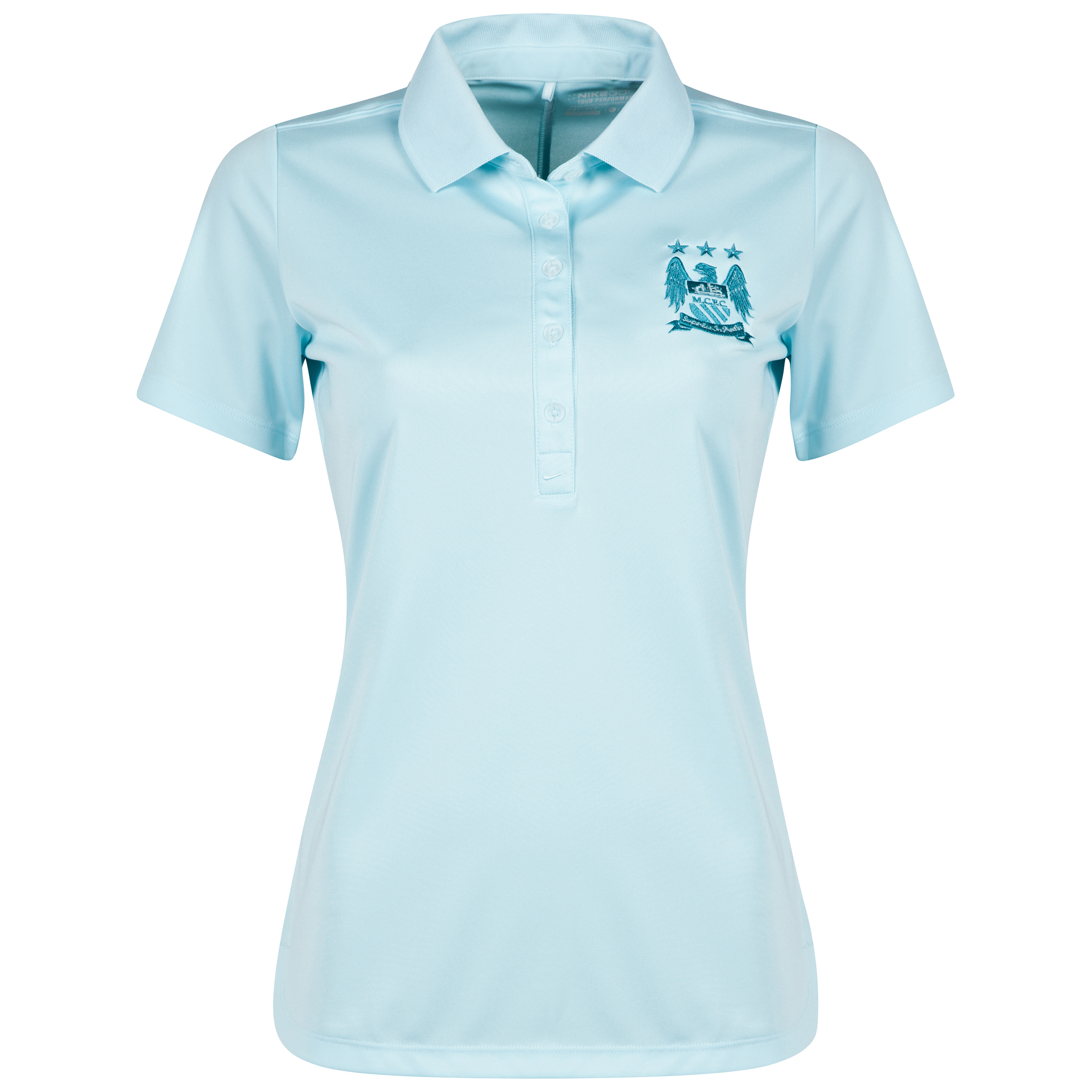 Manchester City Nike Victory Polo - Womens Lt Blue