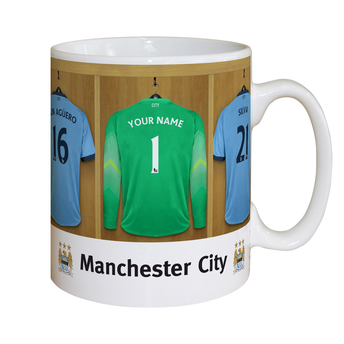 Manchester City Personalised Goalkeeper Dressing Room Mug