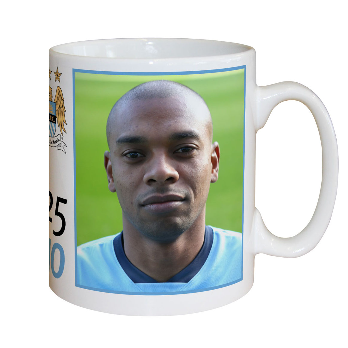 Manchester City Personalised Player Signature Mug - Fernandinho