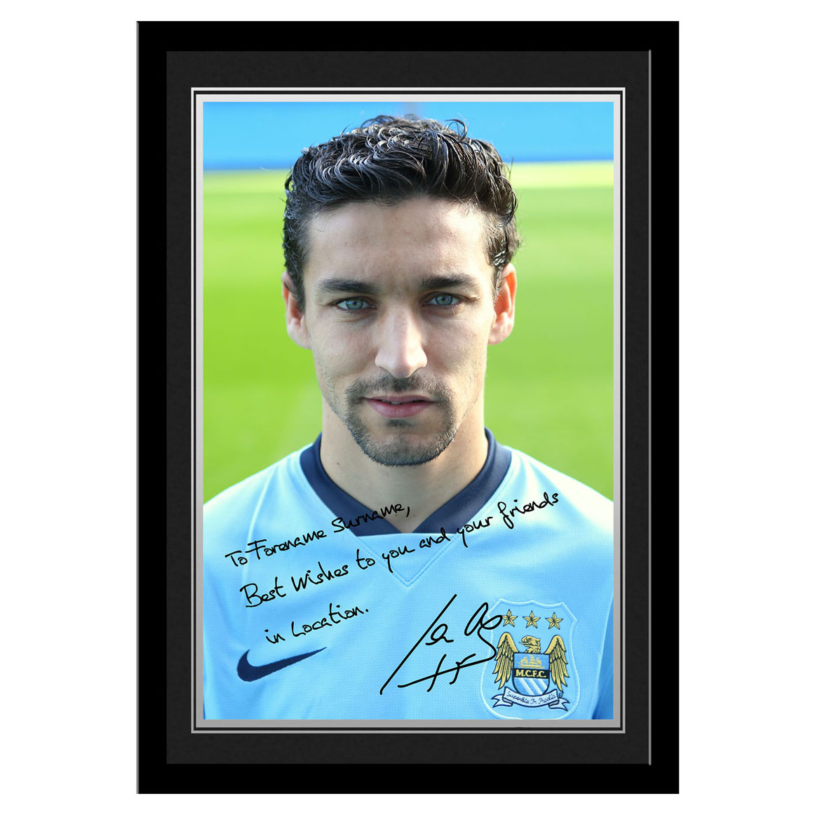 Manchester City Personalised Signature Photo Framed - Navas