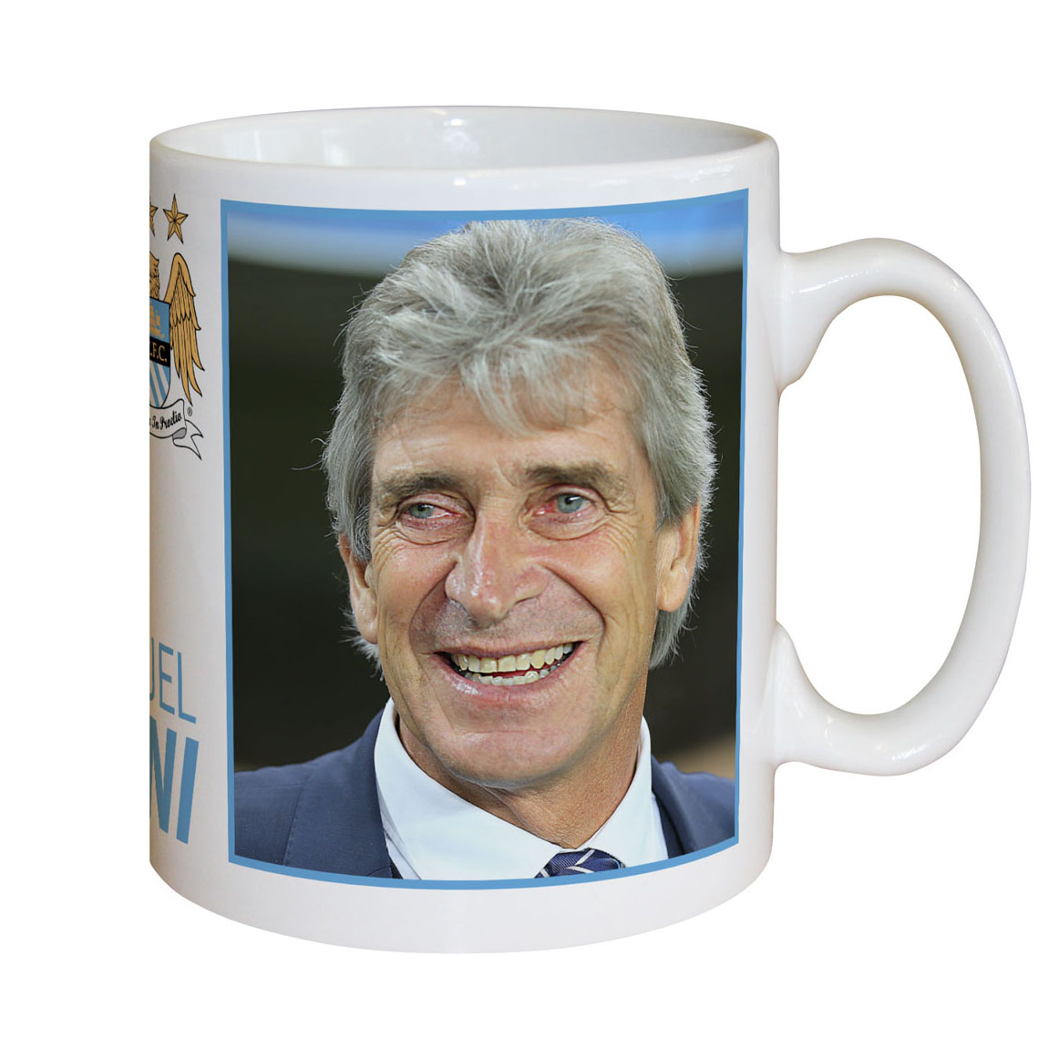 Manchester City Personalised Signature Mug - Pellegrini