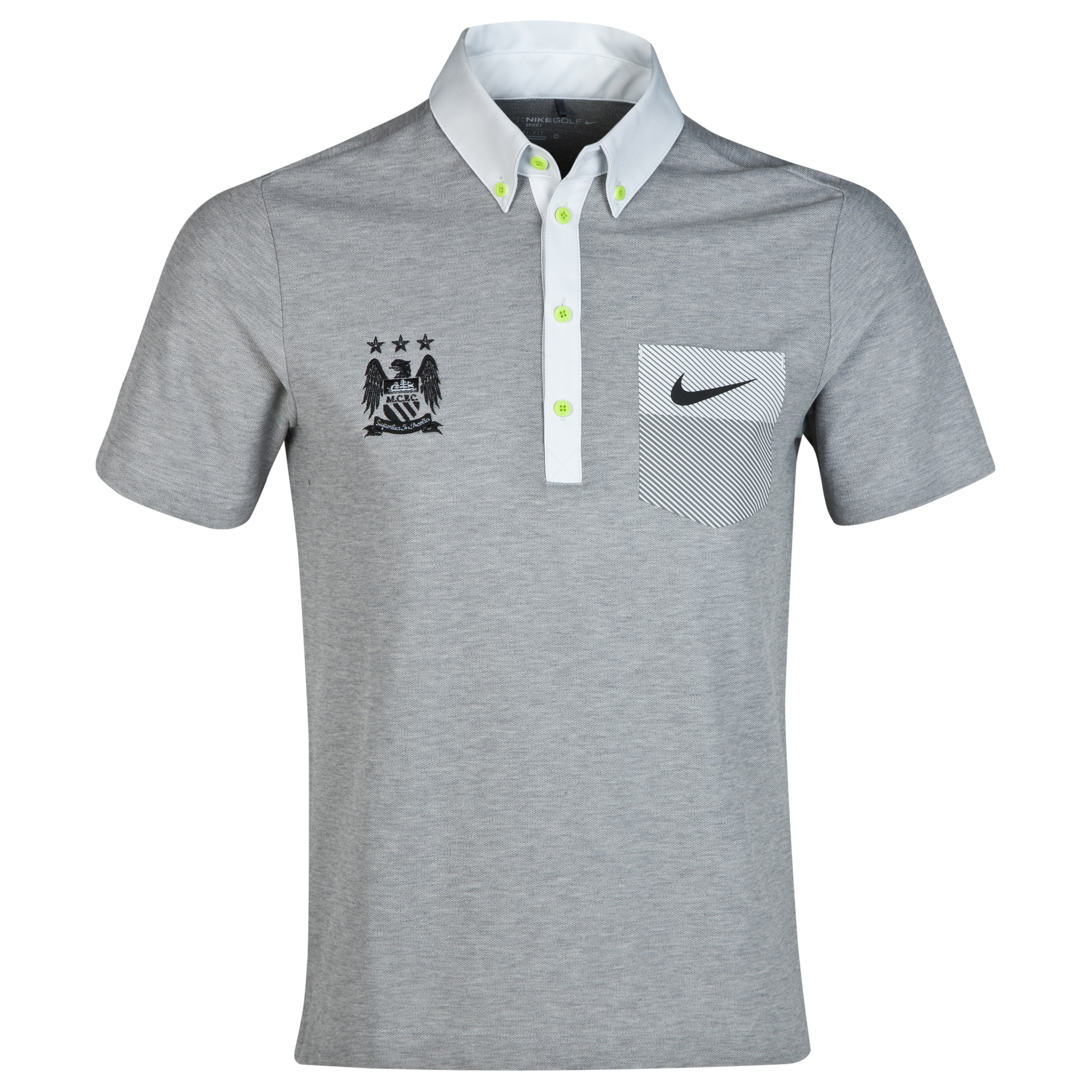Manchester City Nike Golf Pocket Polo Dk Grey