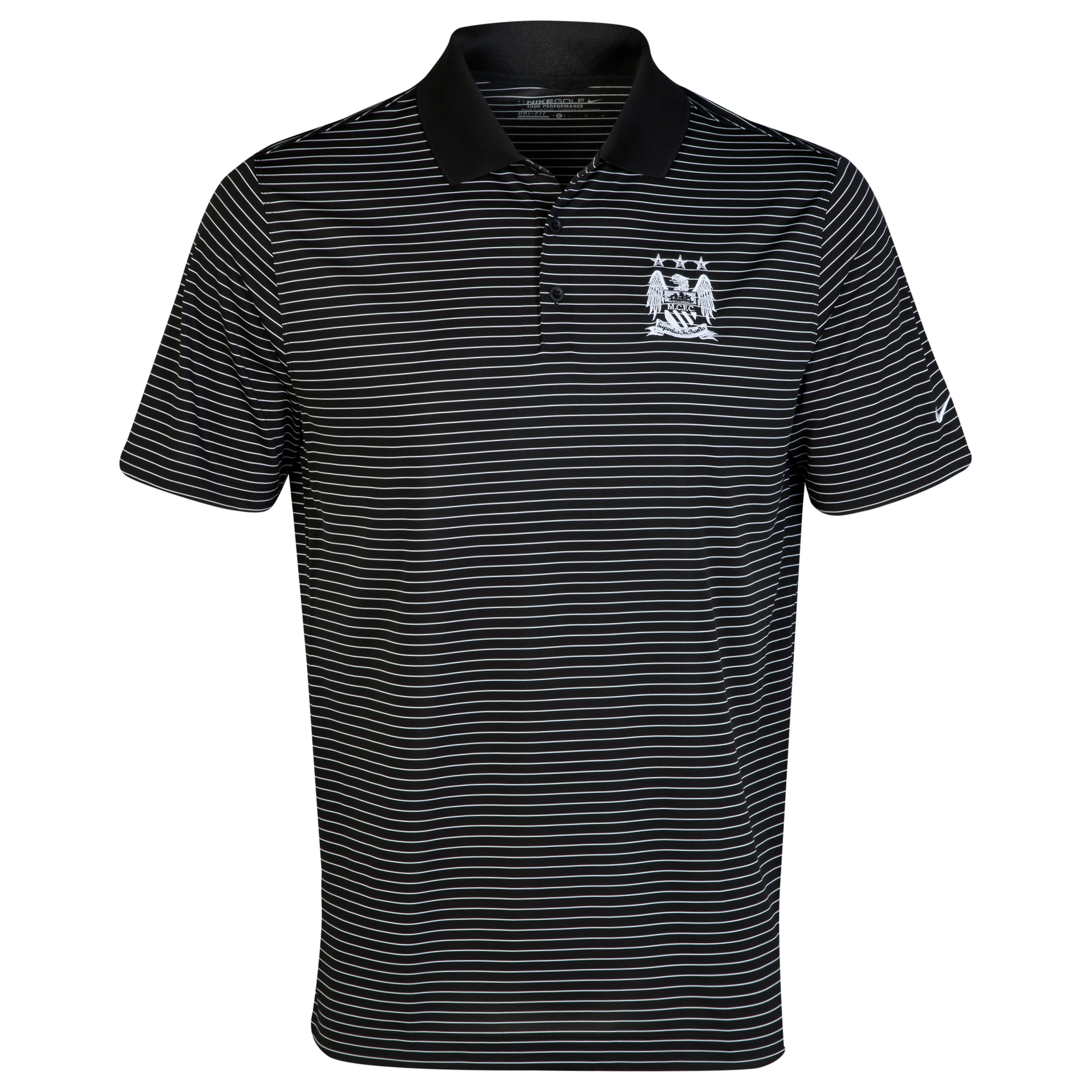 Manchester City Nike Golf Victory Stripe Polo Black