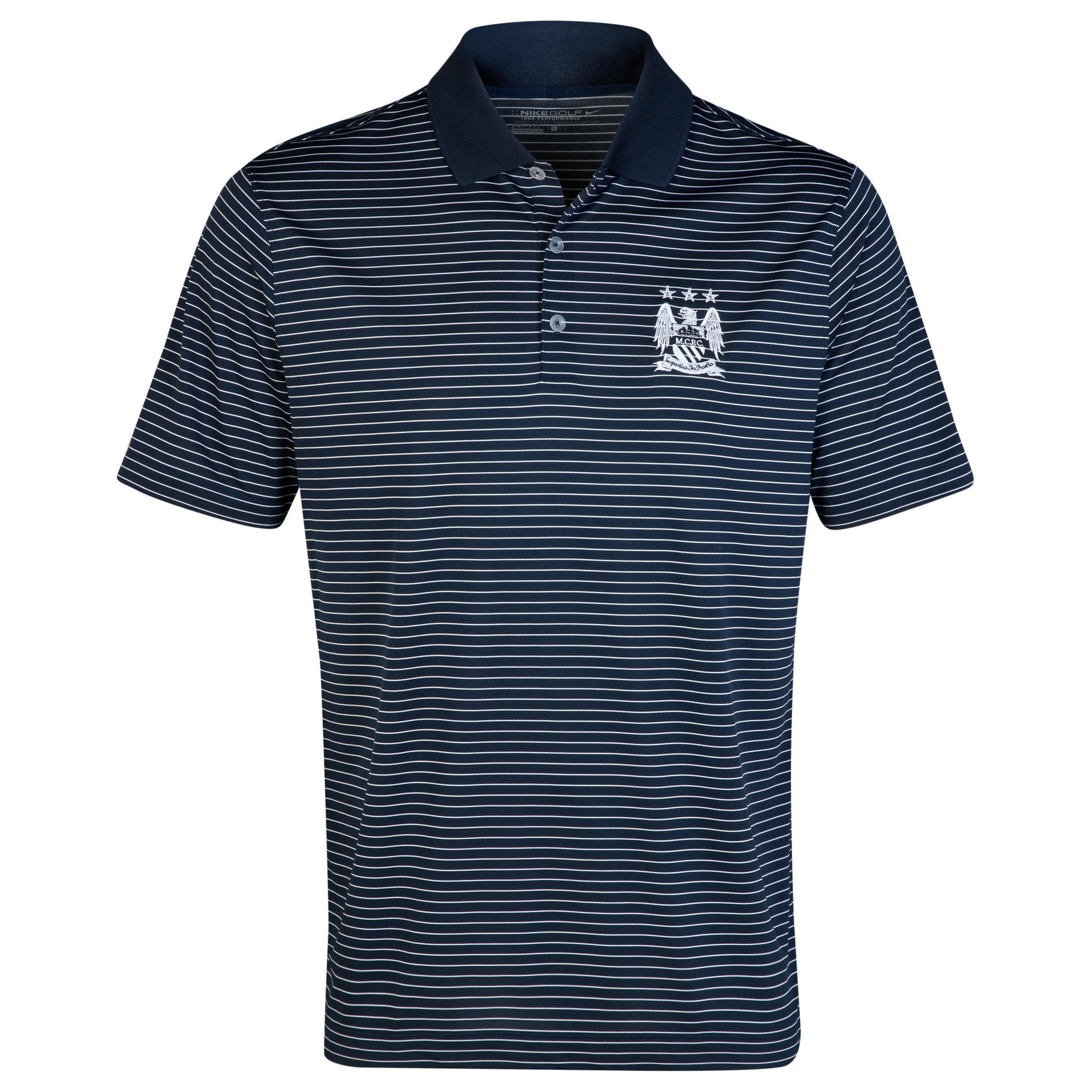 Manchester City Nike Golf Victory Stripe Polo Navy