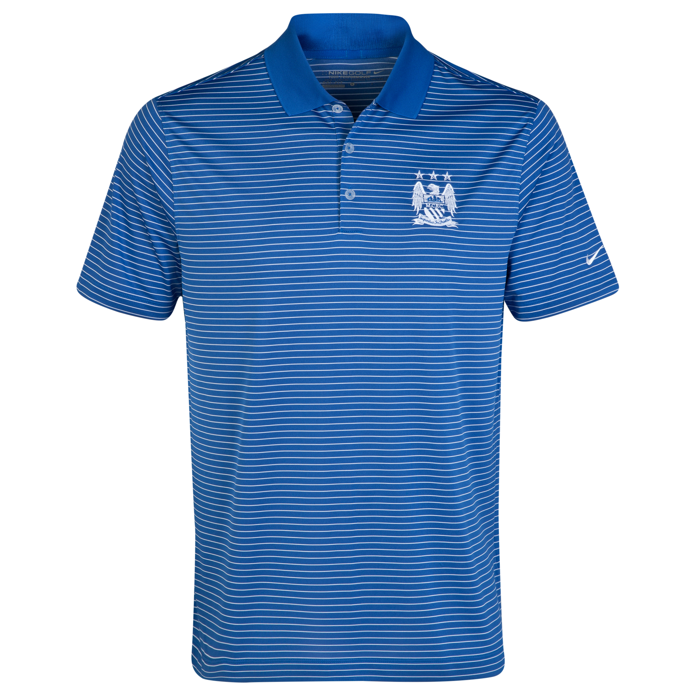 Manchester City Nike Golf Victory Stripe Polo Blue