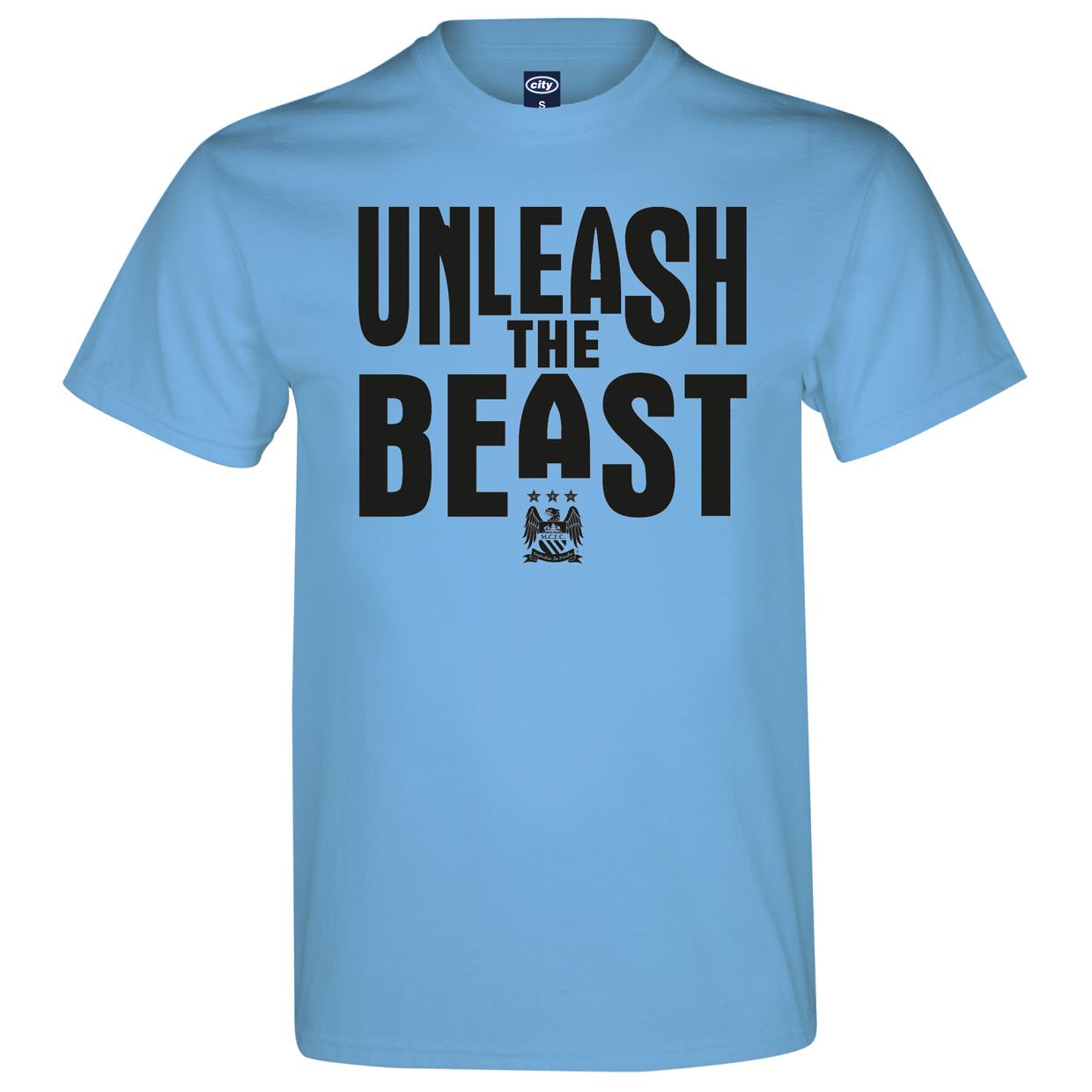 Manchester City 2 for 20 Beast T-Shirt - Sky