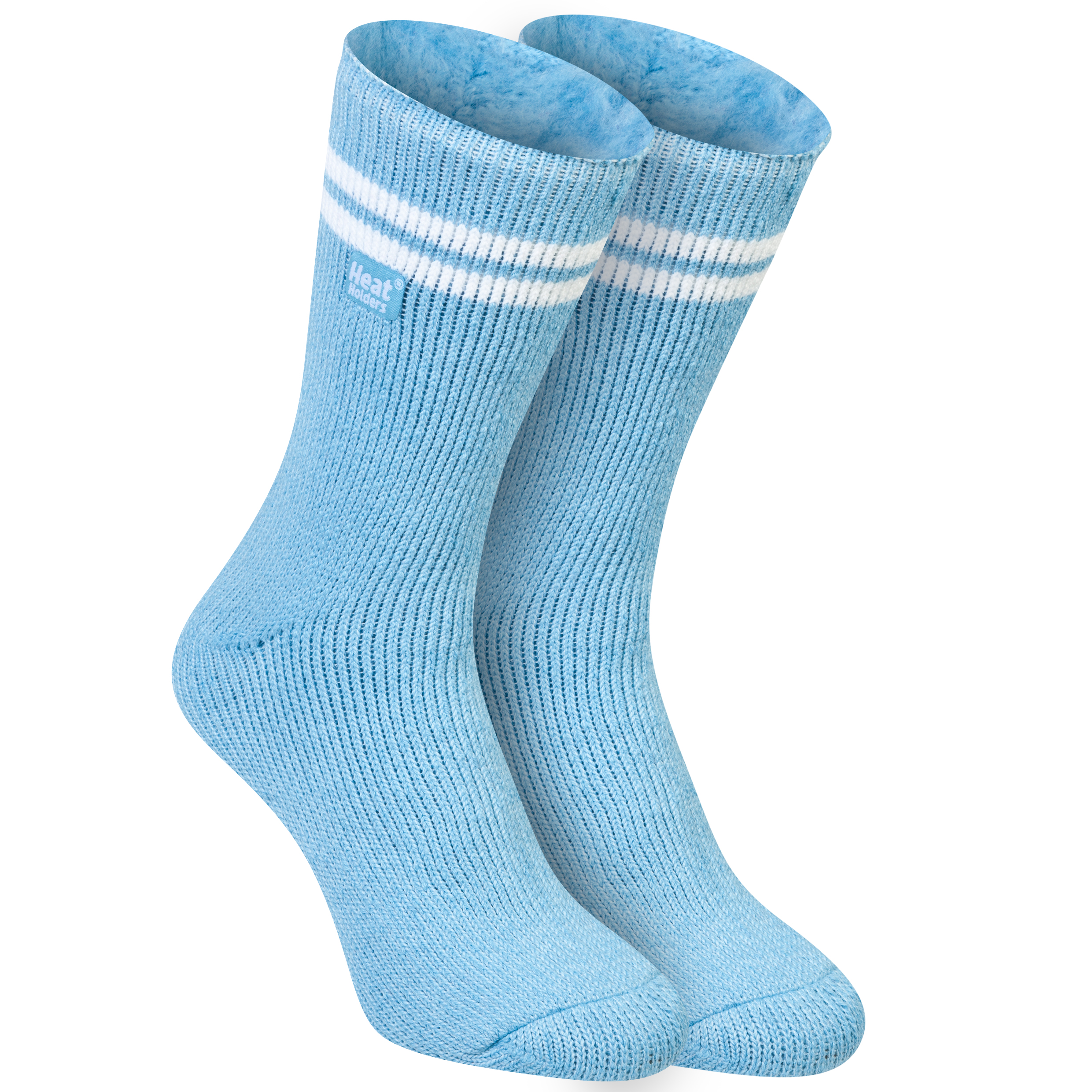 Manchester City Heat Holders Thermal Socks Sky Blue