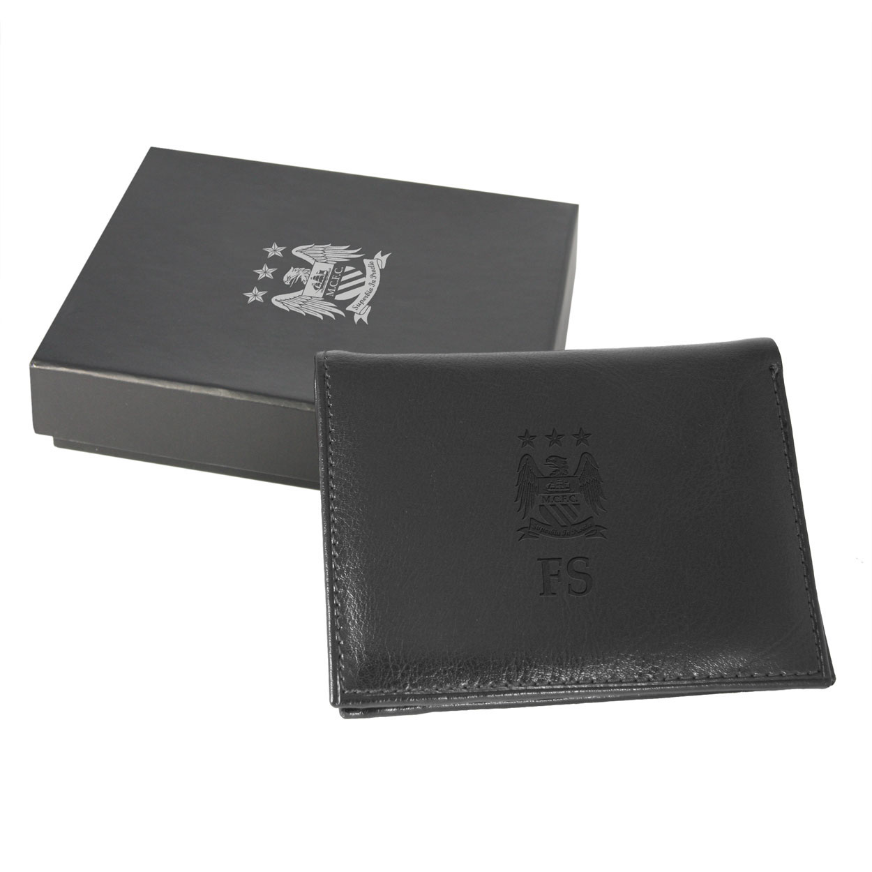 Manchester City Personalised Wallet Black