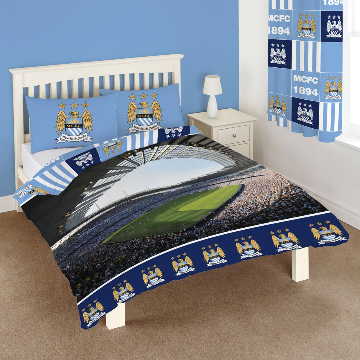 Manchester City Stadium Panel Double Duvet