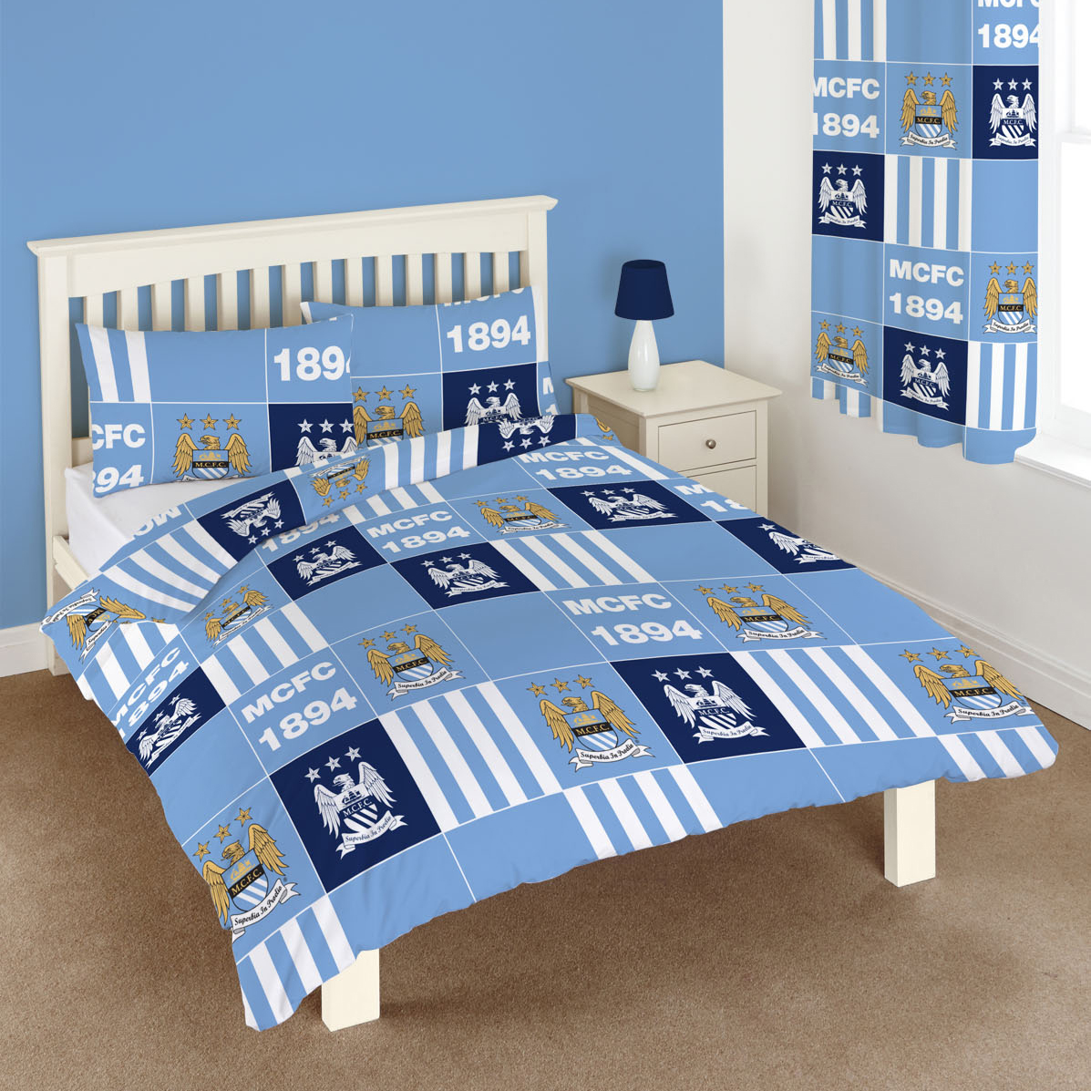 Manchester City Patchwork Duvet Double