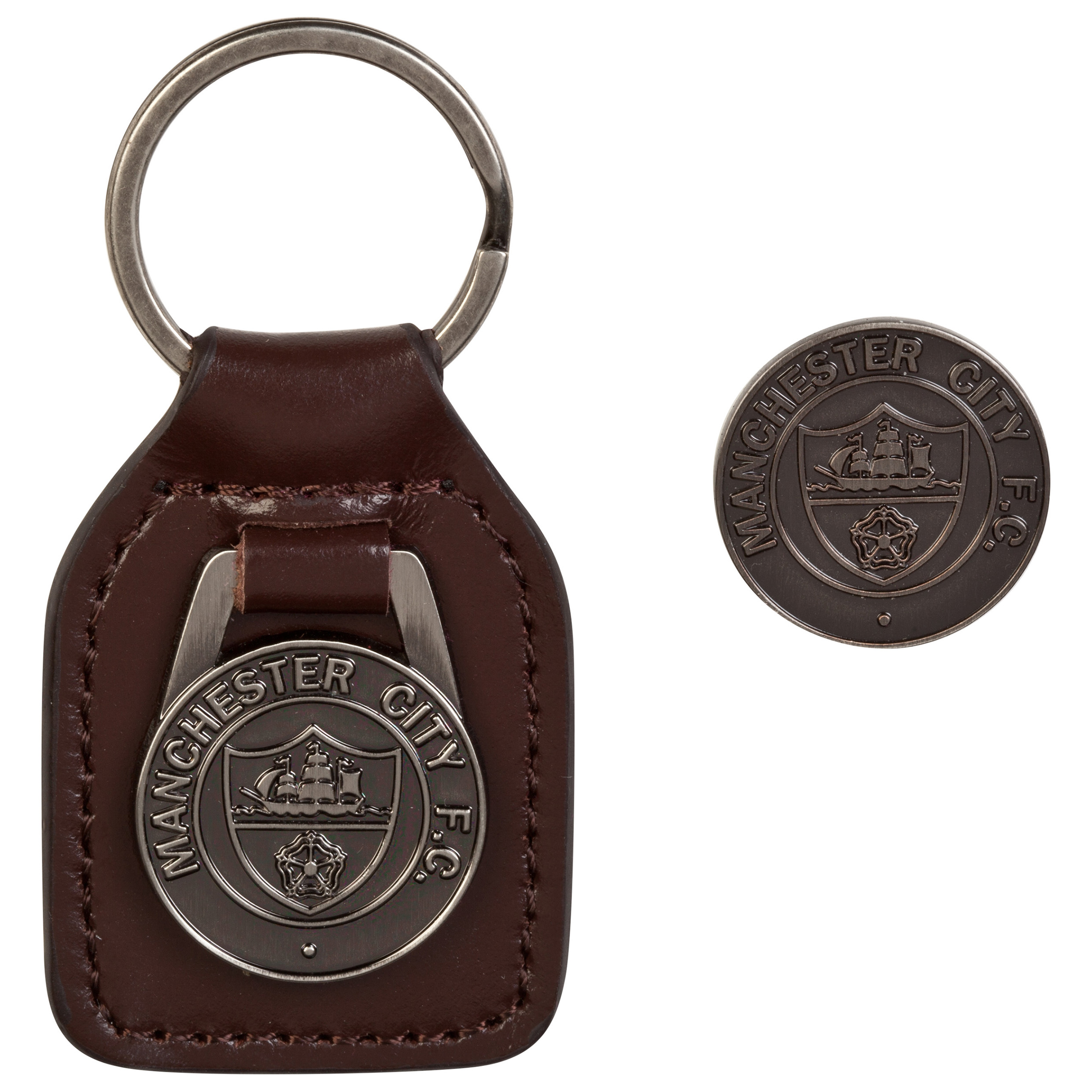 Manchester City Retro Keyring Set